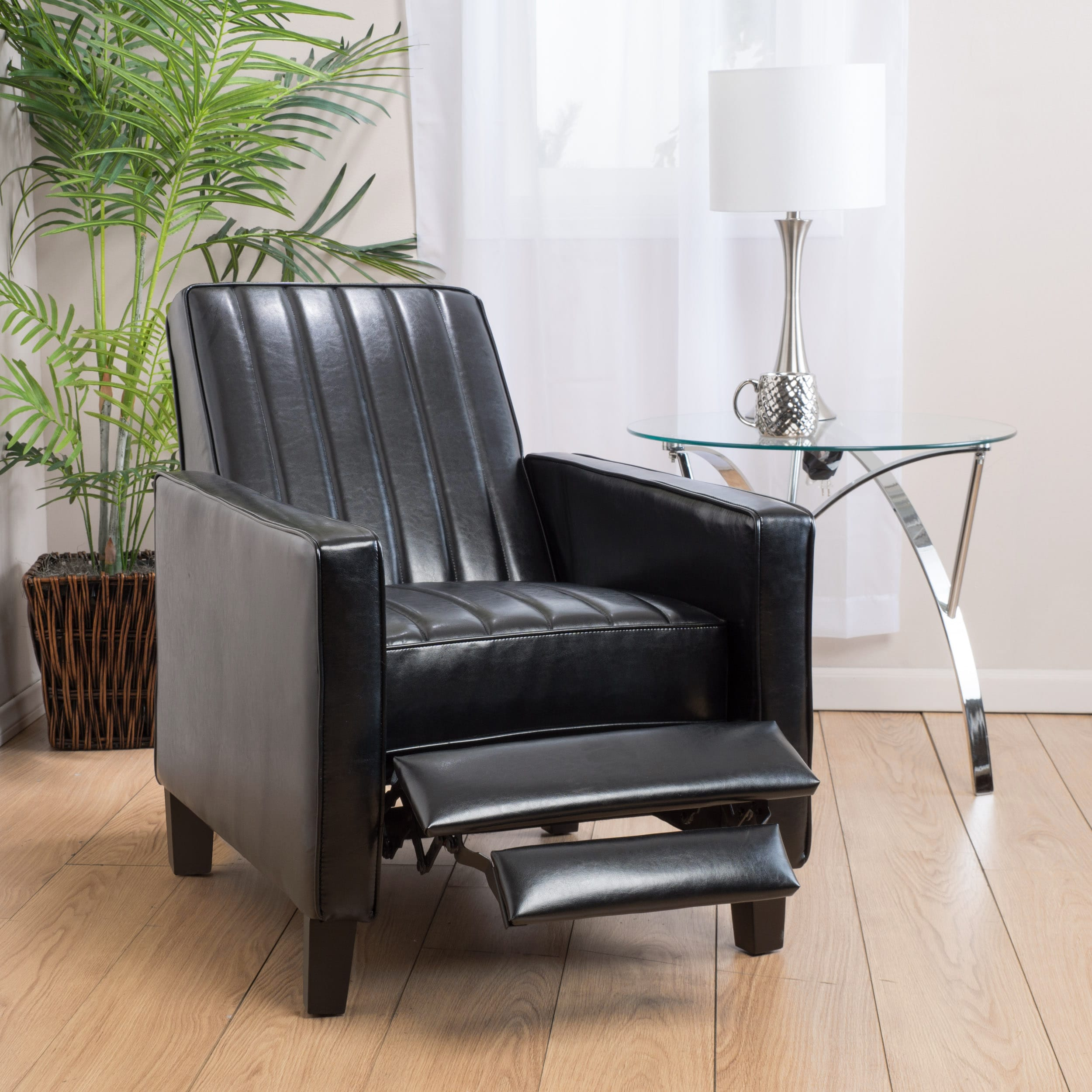 Shop Jameson Channel Bonded Leather Recliner Chair