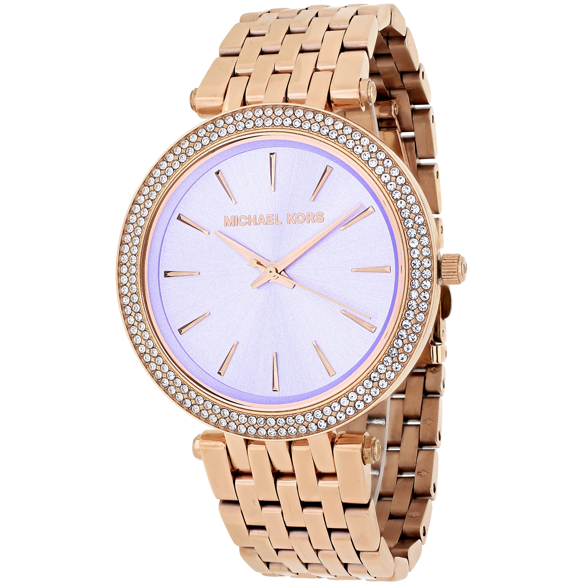 e3cdc6689175a Michael Kors Women s MK3400 Darci Round Rose Gold-tone Stainless Steel  Bracelet Watch