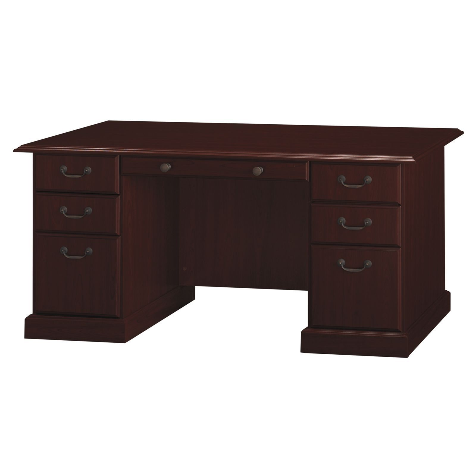 Kathy Ireland Office Bennington Manager S Desk In Harvest Cherry Free Shipping Today 17439021