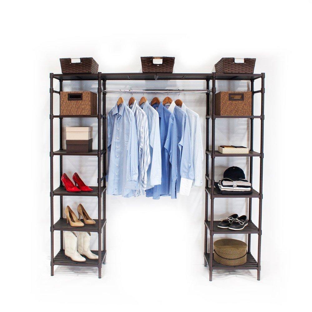 Shop Seville Classics Expandable Closet Organizer System, Resin Slat   Free  Shipping Today   Overstock.com   10328716