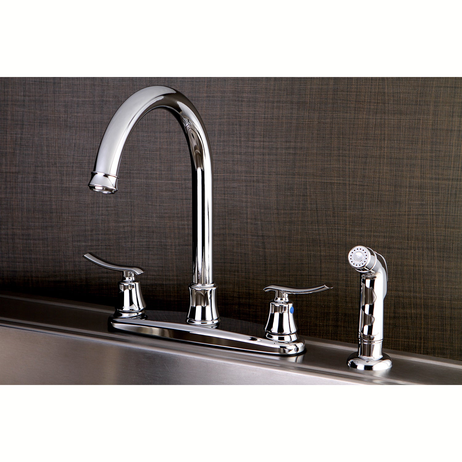 Shop Euro Chrome Kitchen Faucet with Side Sprayer - Free Shipping ...