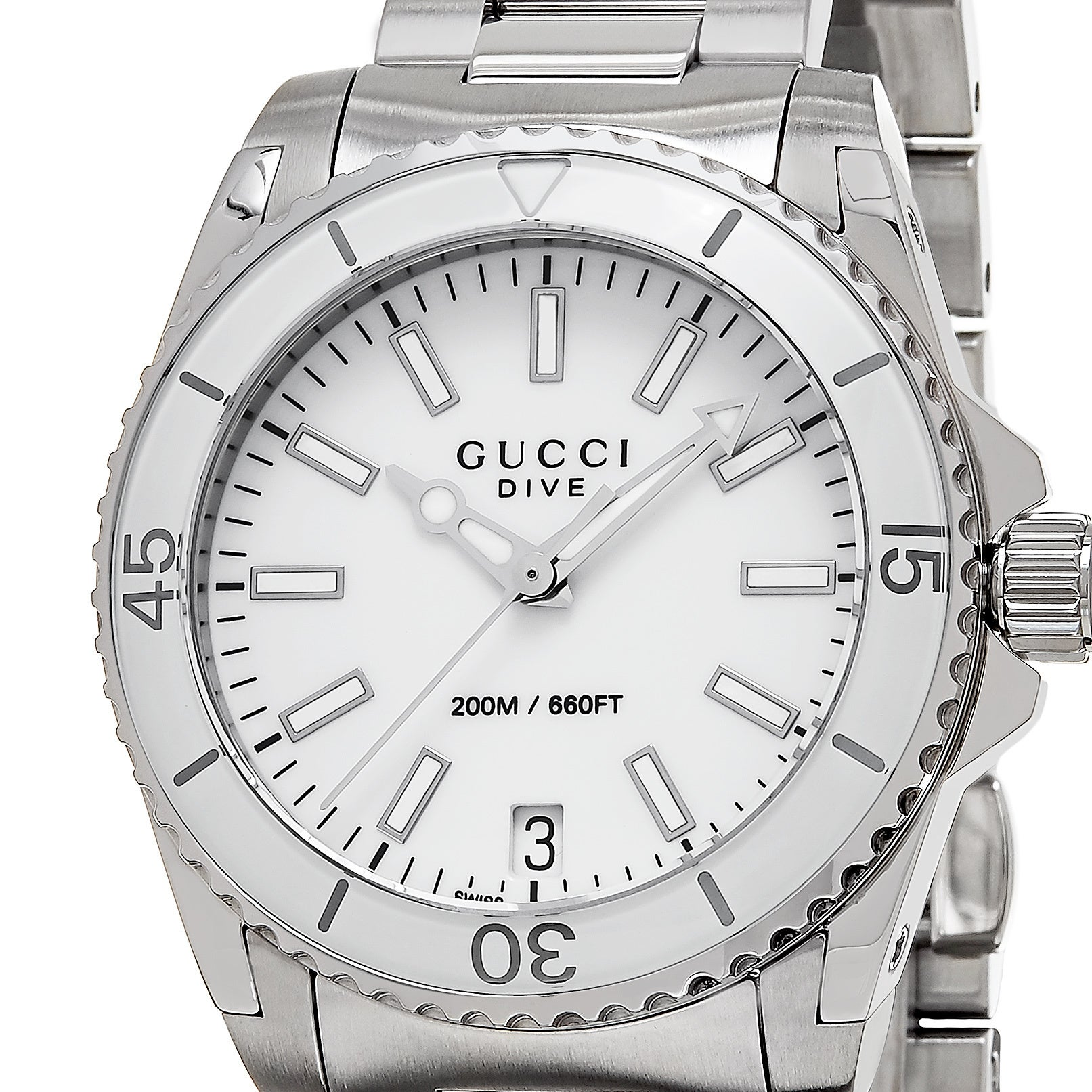 d9650c68924 Shop Gucci Women s YA136402  Dive  Stainless Steel Watch - Free Shipping  Today - Overstock - 10329697
