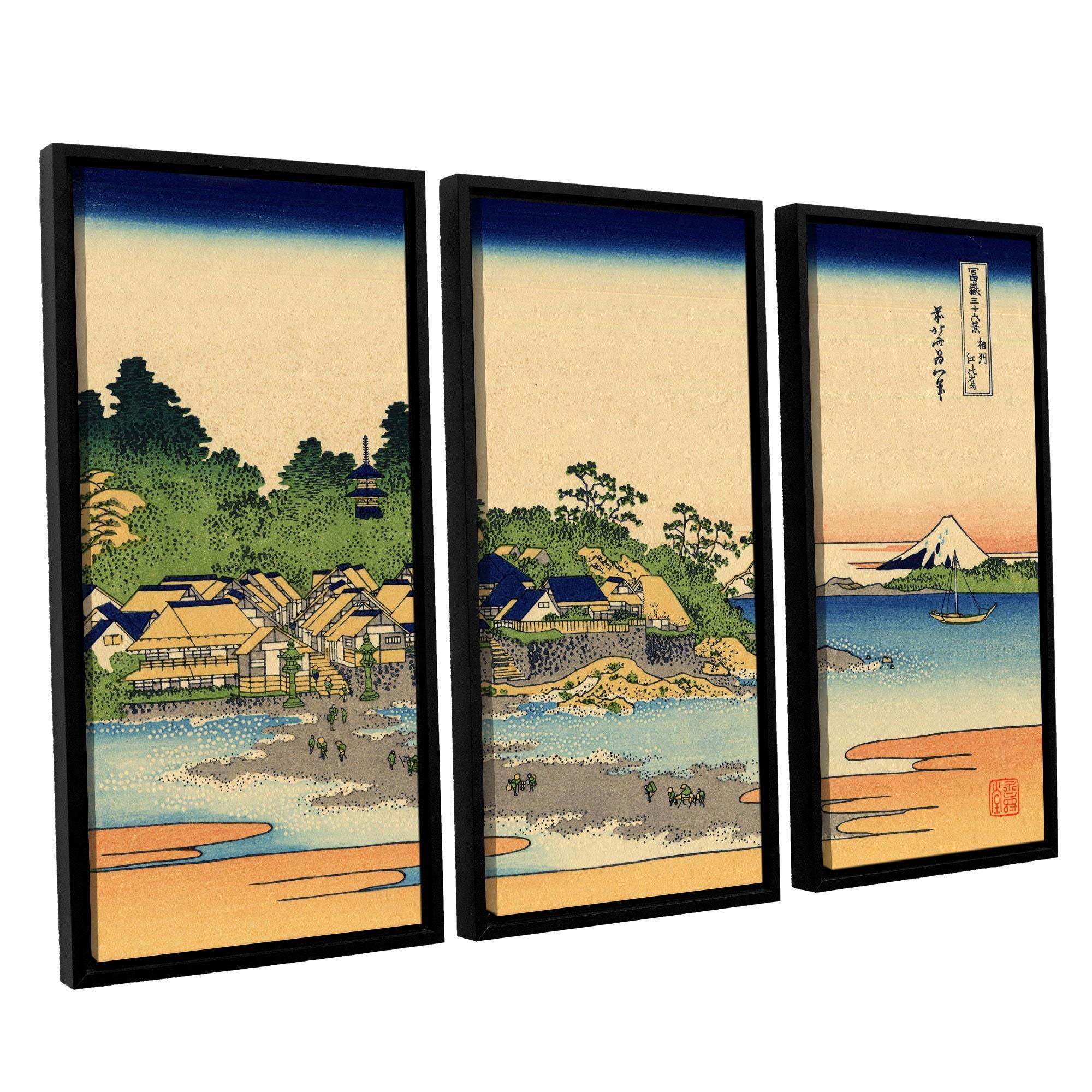 ArtWall Katsushika Hokusai \'Enoshima In The Sagami Province\' 3 Piece ...