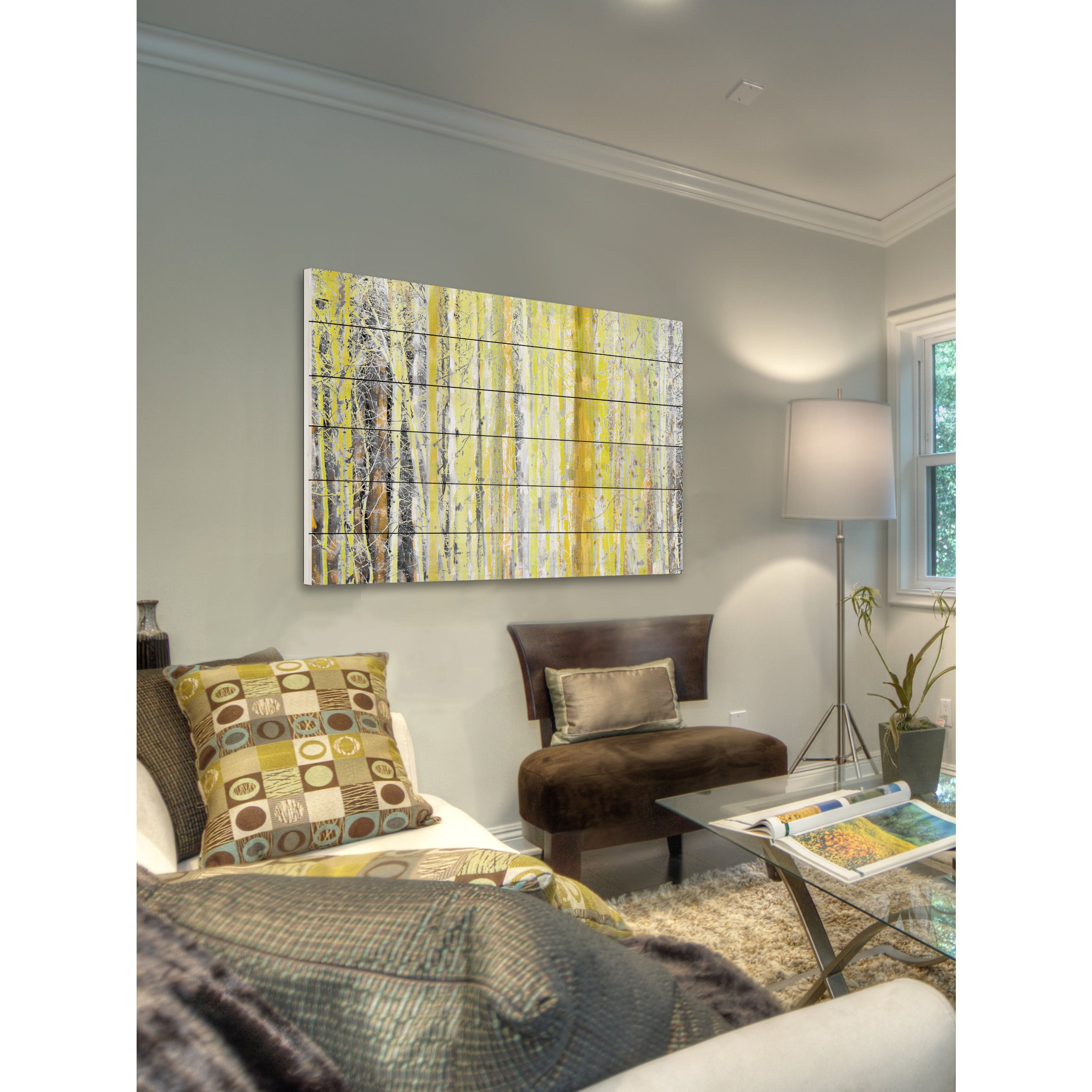 Aspen white painted bedroom Tombates Shop Parvez Taj aspen Forest 2 Painting Print On White Wood On Sale Free Shipping Today Overstockcom 10331748 Overstockcom Shop Parvez Taj aspen Forest 2 Painting Print On White Wood On