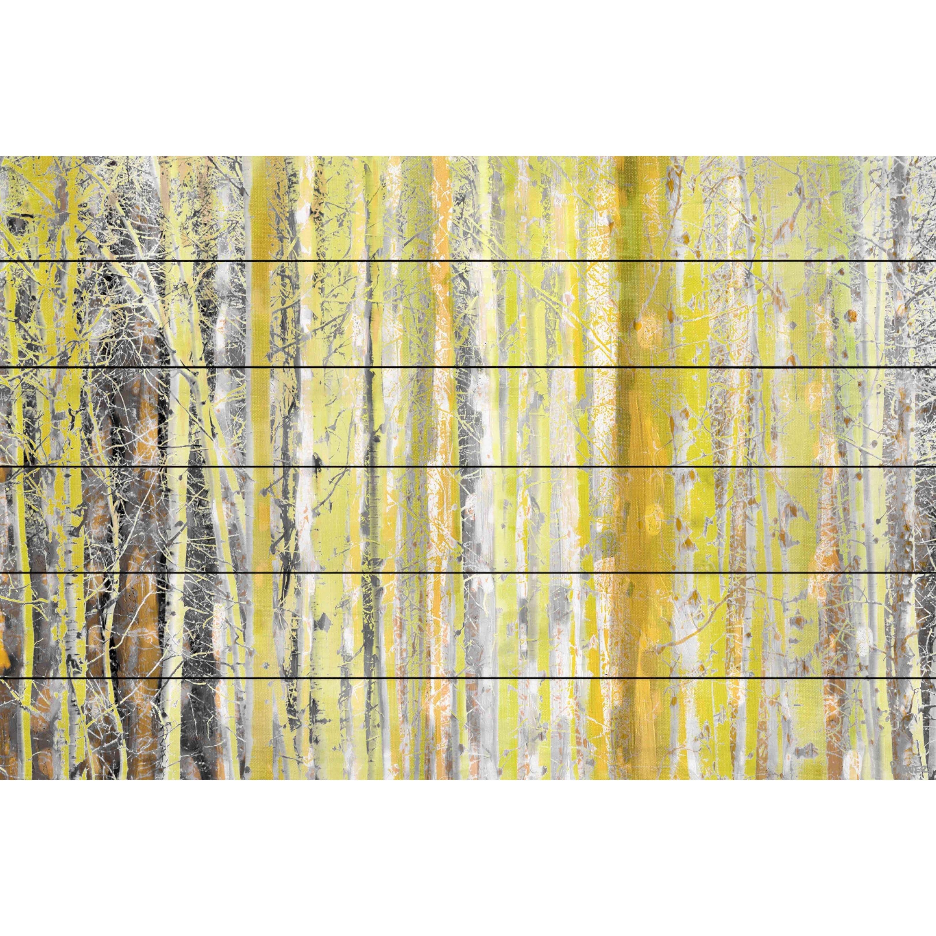 Shop Parvez Taj \'Aspen Forest 2\' Painting Print on White Wood - On ...
