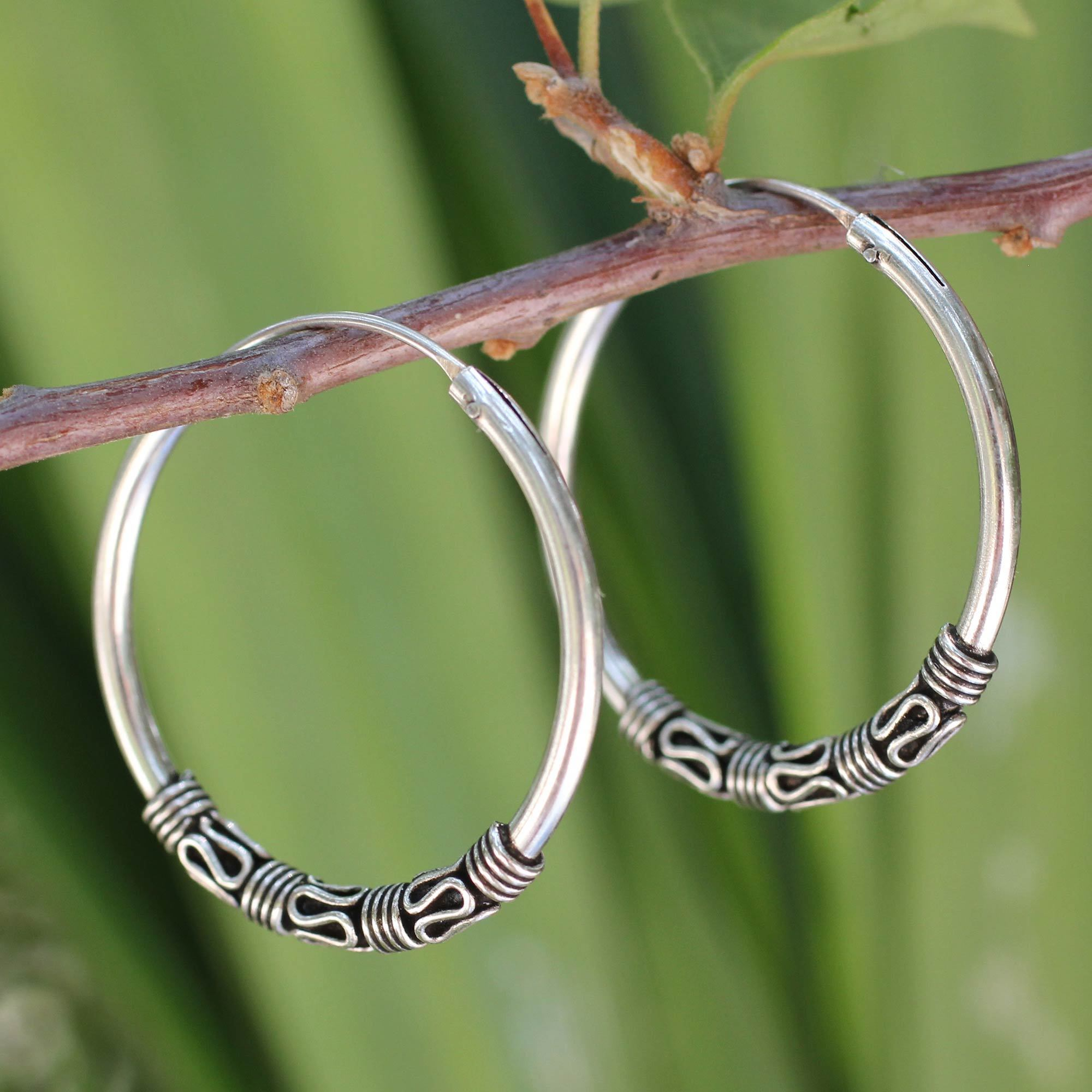 Handmade Sterling Silver Traditional Thai Earrings Thailand Free Shipping On Orders Over 45 17442689