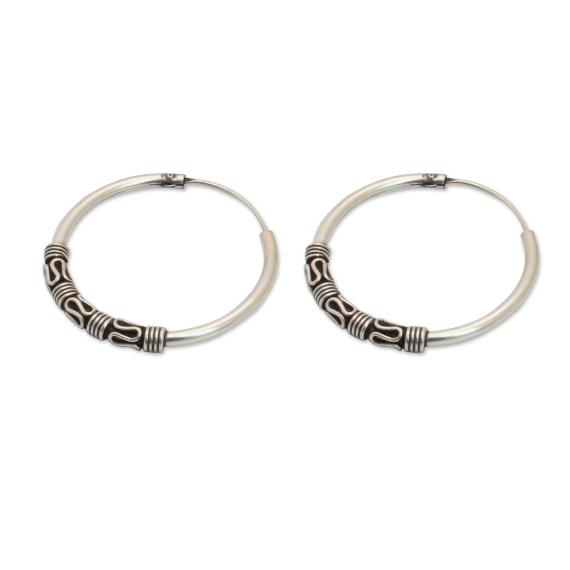 Handmade Sterling Silver Traditional Thai Earrings Thailand On Free Shipping Orders Over 45 10332096