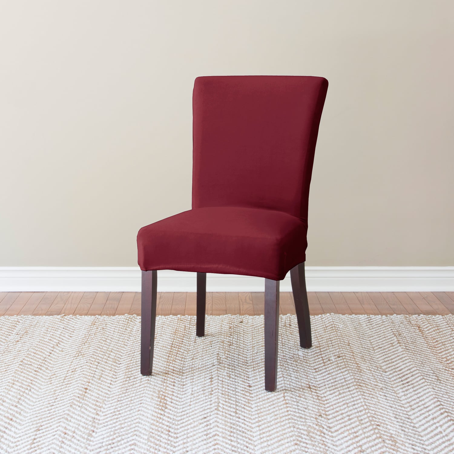 Coverworks Harper Stretch Suede Dining Chair Slipcover Set Of 4 Free Shipping Today 10332162