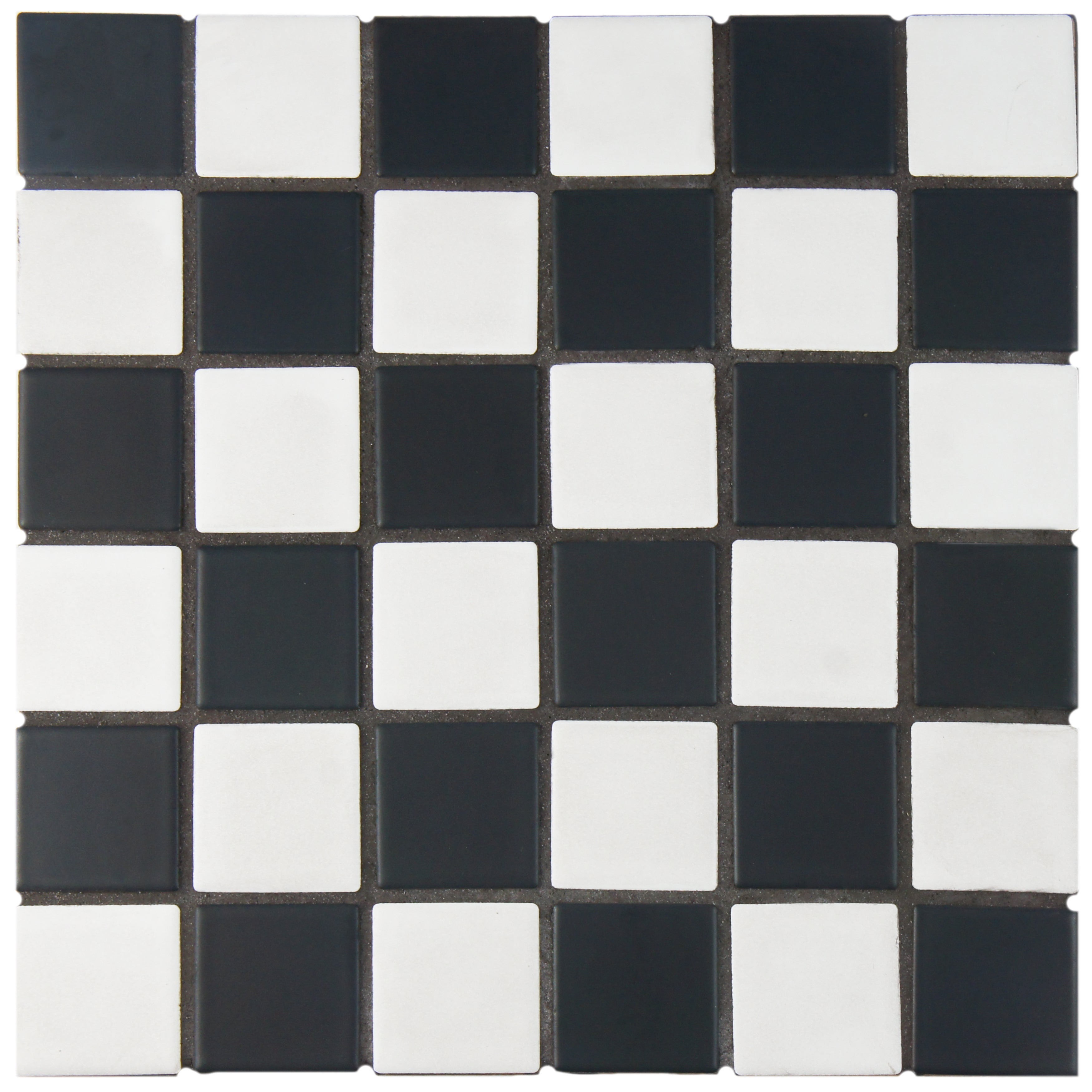 Somertile 125x125 knight matte black white checkerboard somertile 125x125 knight matte black white checkerboard porcelain floor and wall tile case of 10 free shipping today overstock 17443534 dailygadgetfo Image collections