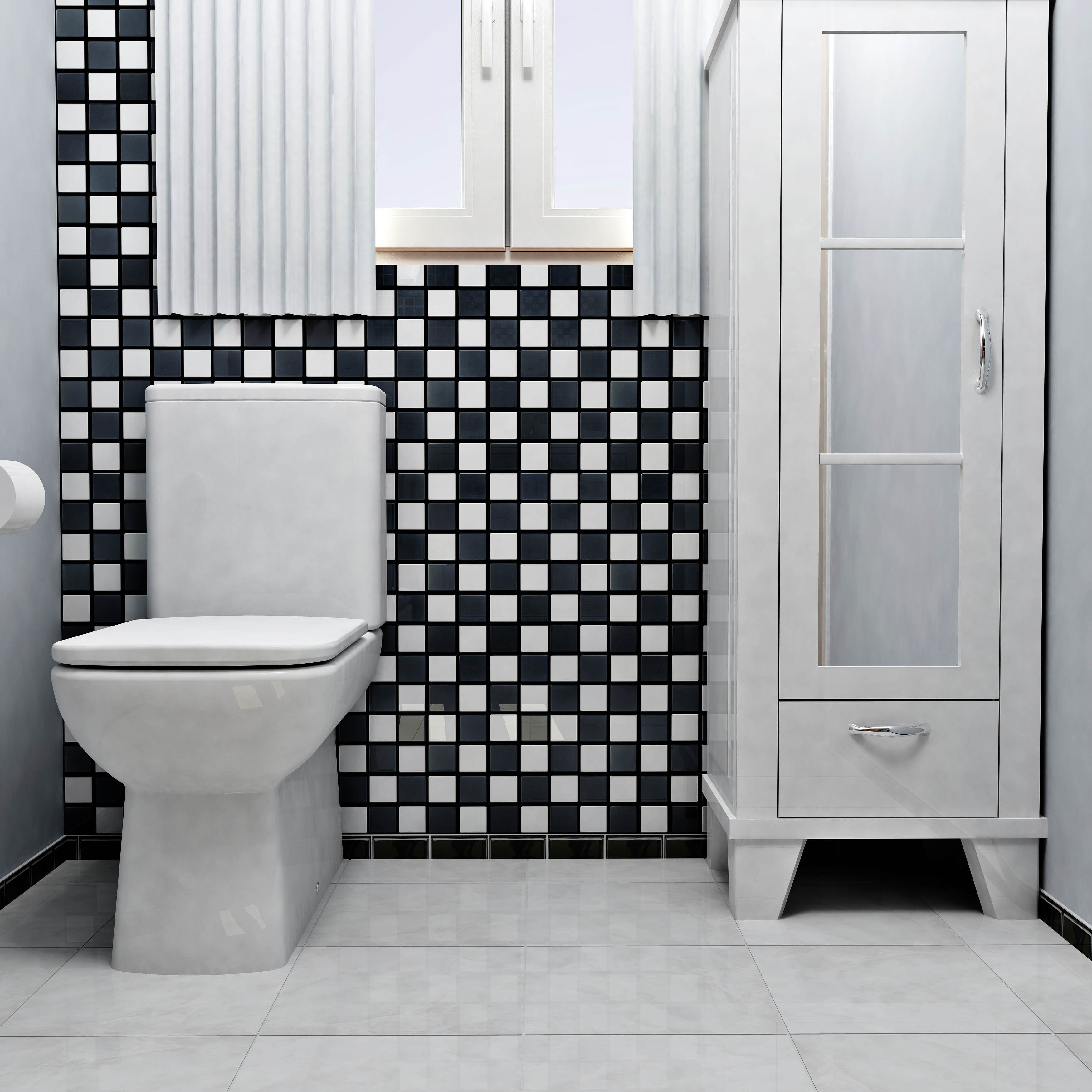 Shop Somertile 125x125 Knight Quad Checkerboard Porcelain Mosaic