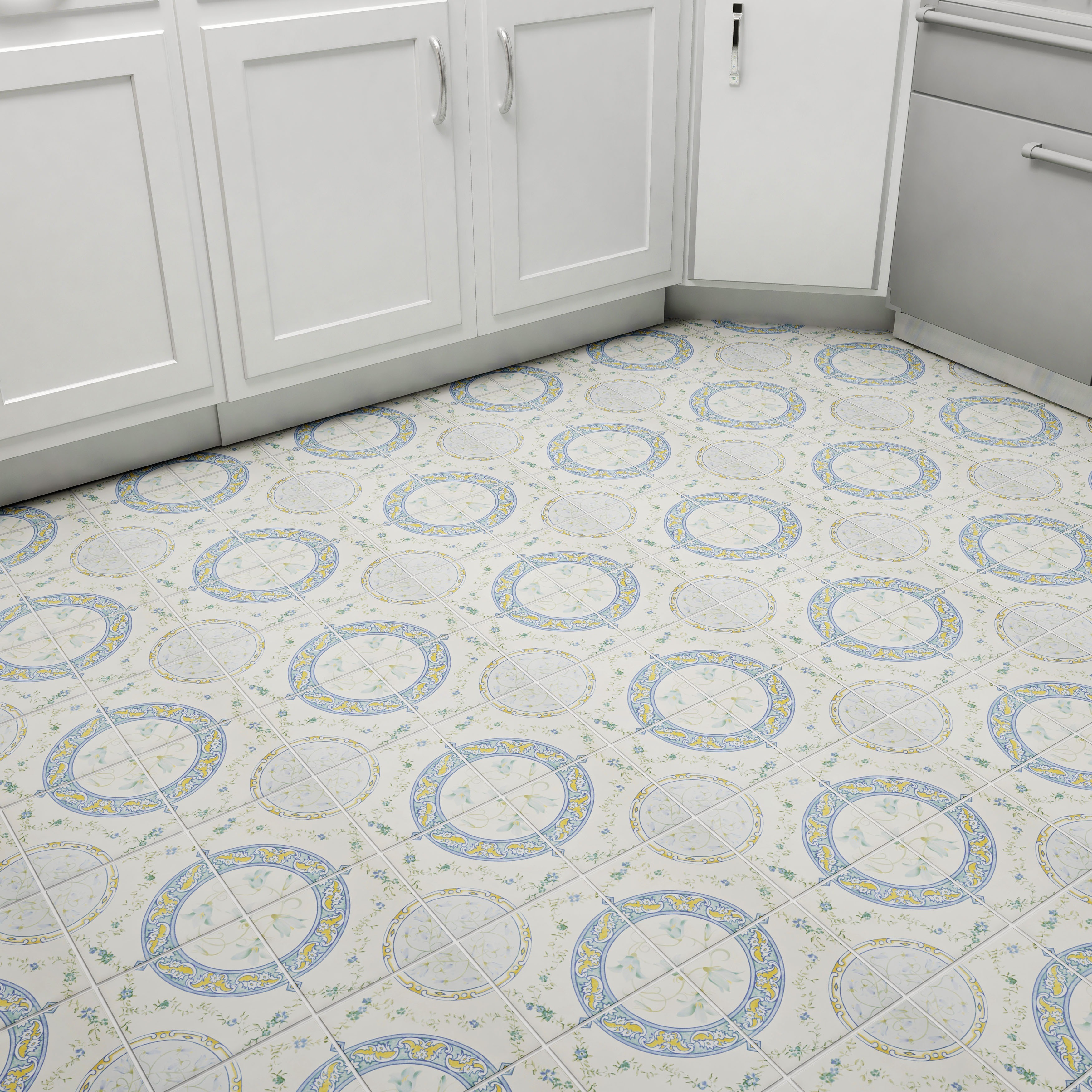 Shop SomerTile Xinch Fonthill Abbey Rian Ceramic Floor And Wall - 13x13 white ceramic floor tile