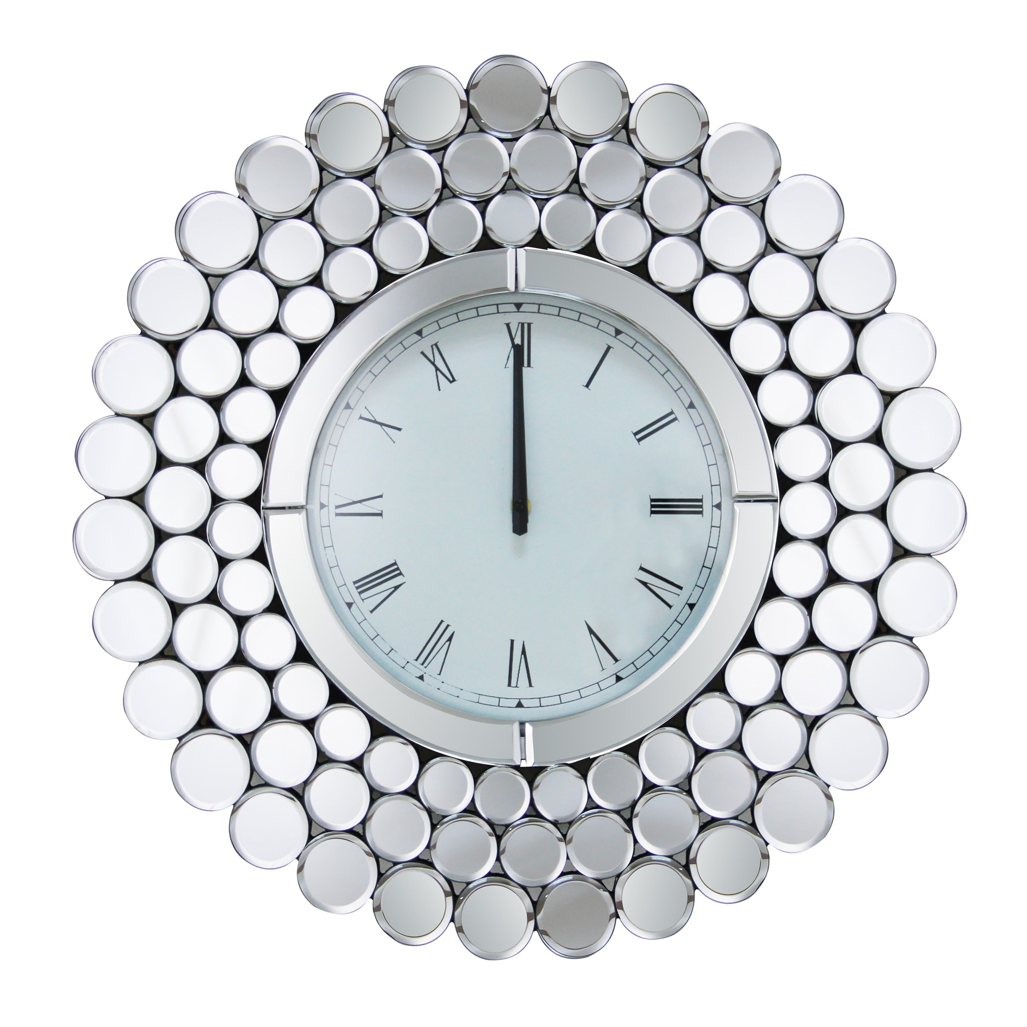 Top Abbyson Radiance Round Wall Mirror Clock - Free Shipping Today  UK52