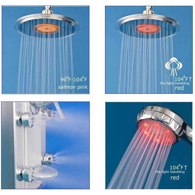 AKDY 51-inch Aluminum Shower Panel with Tower Massage Spa System ...