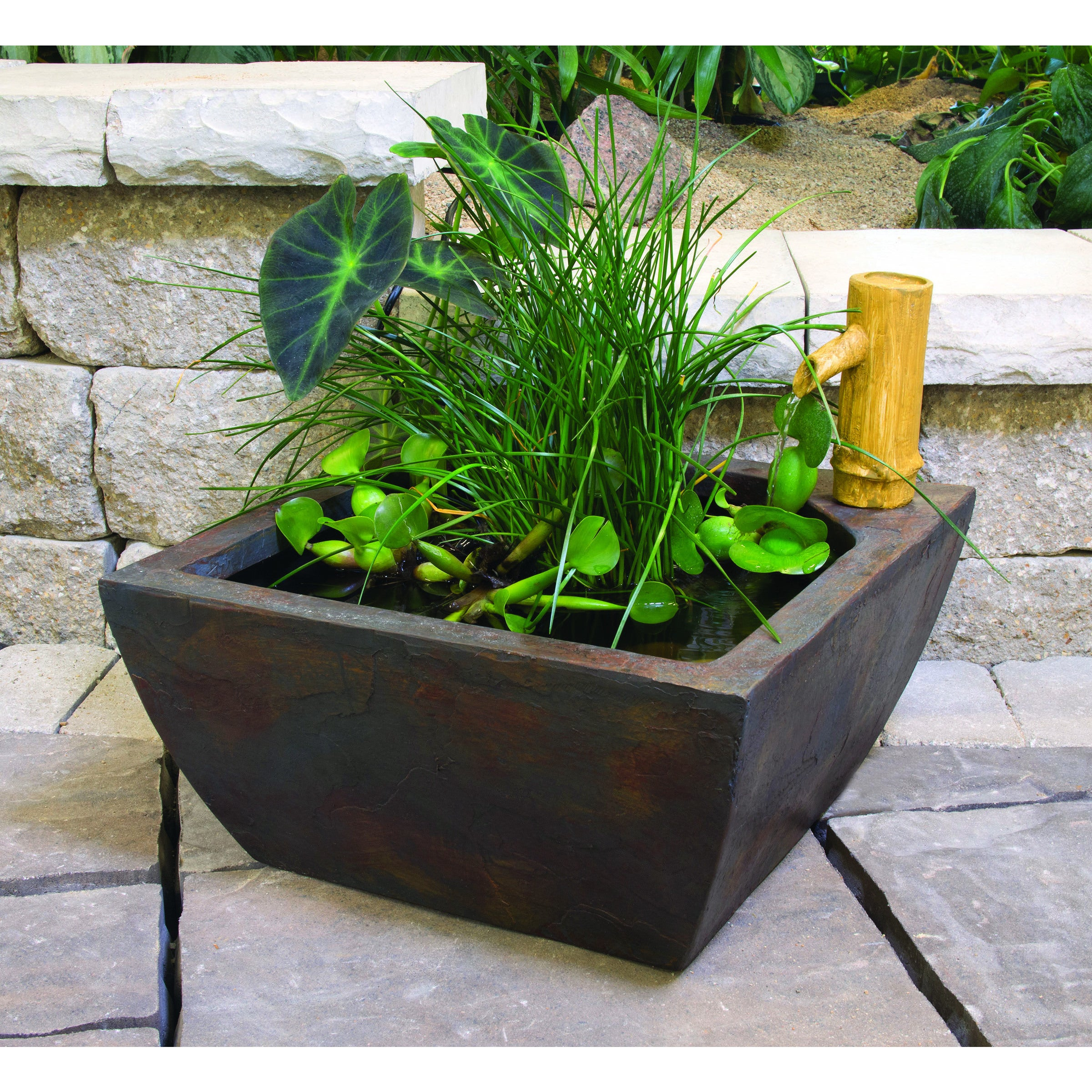 Exceptionnel Shop Aquatic Patio Pond Kit   Free Shipping Today   Overstock.com   10333649