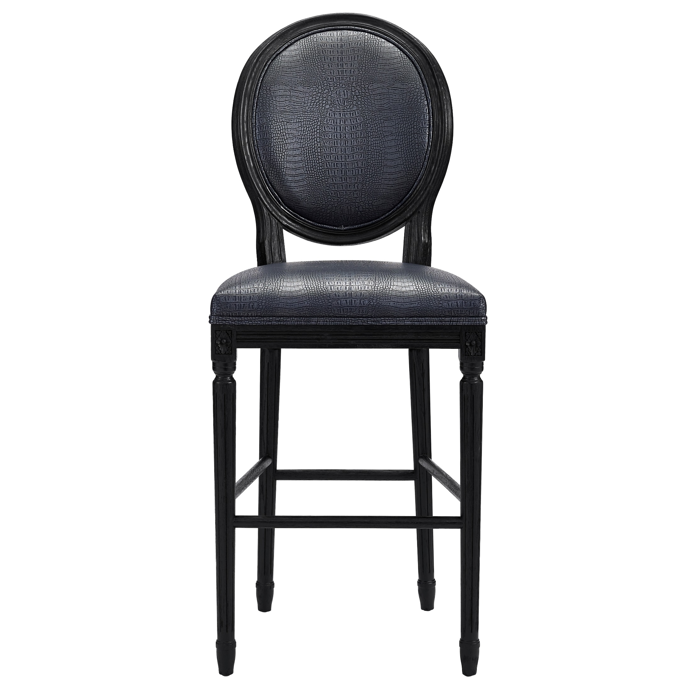 Marvelous Philip Grey Croc Barstool   Free Shipping Today   Overstock.com   17444108