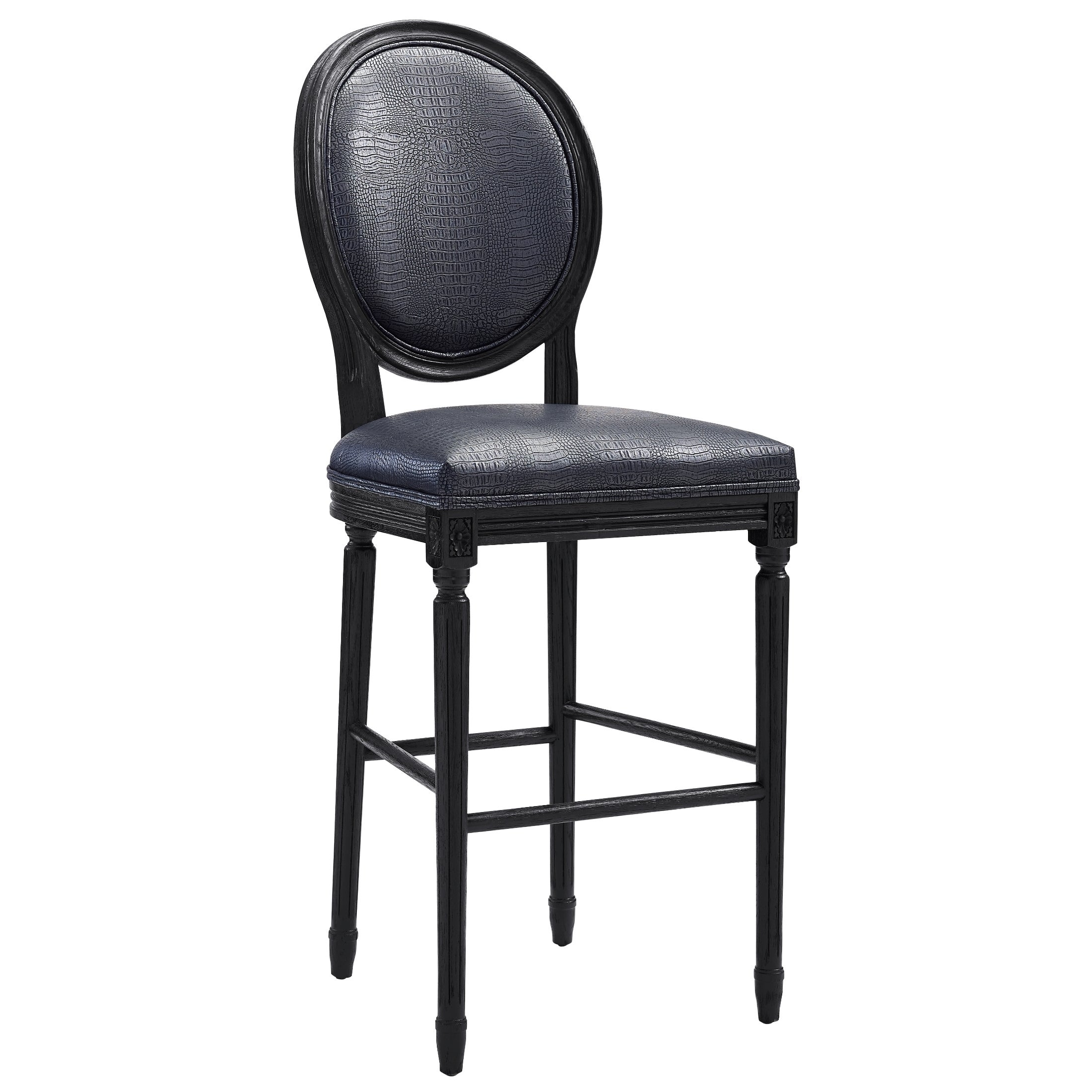 Philip Grey Croc Barstool   Free Shipping Today   Overstock.com   17444108