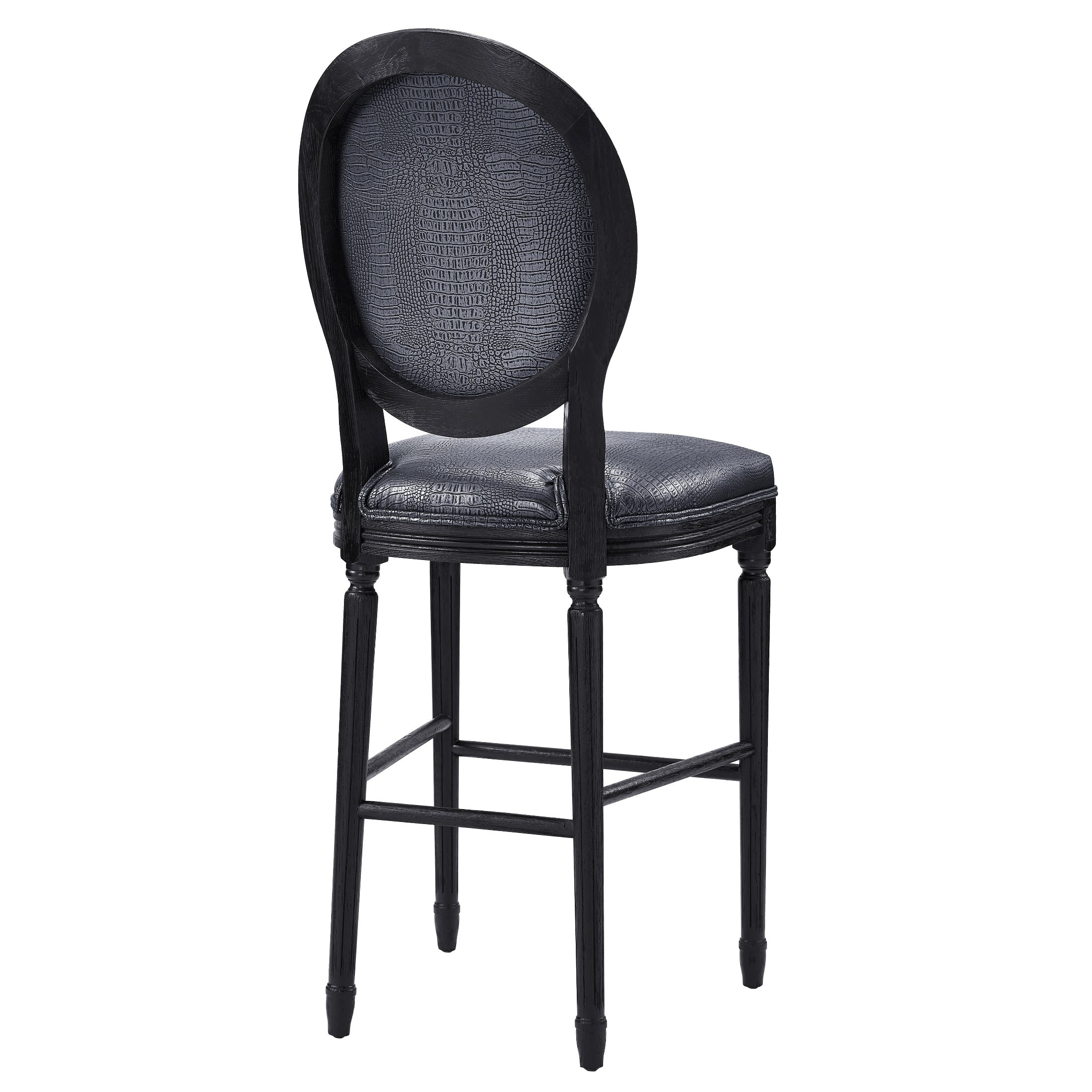 Philip Grey Croc Barstool   Free Shipping Today   Overstock.com   17444108 Photo
