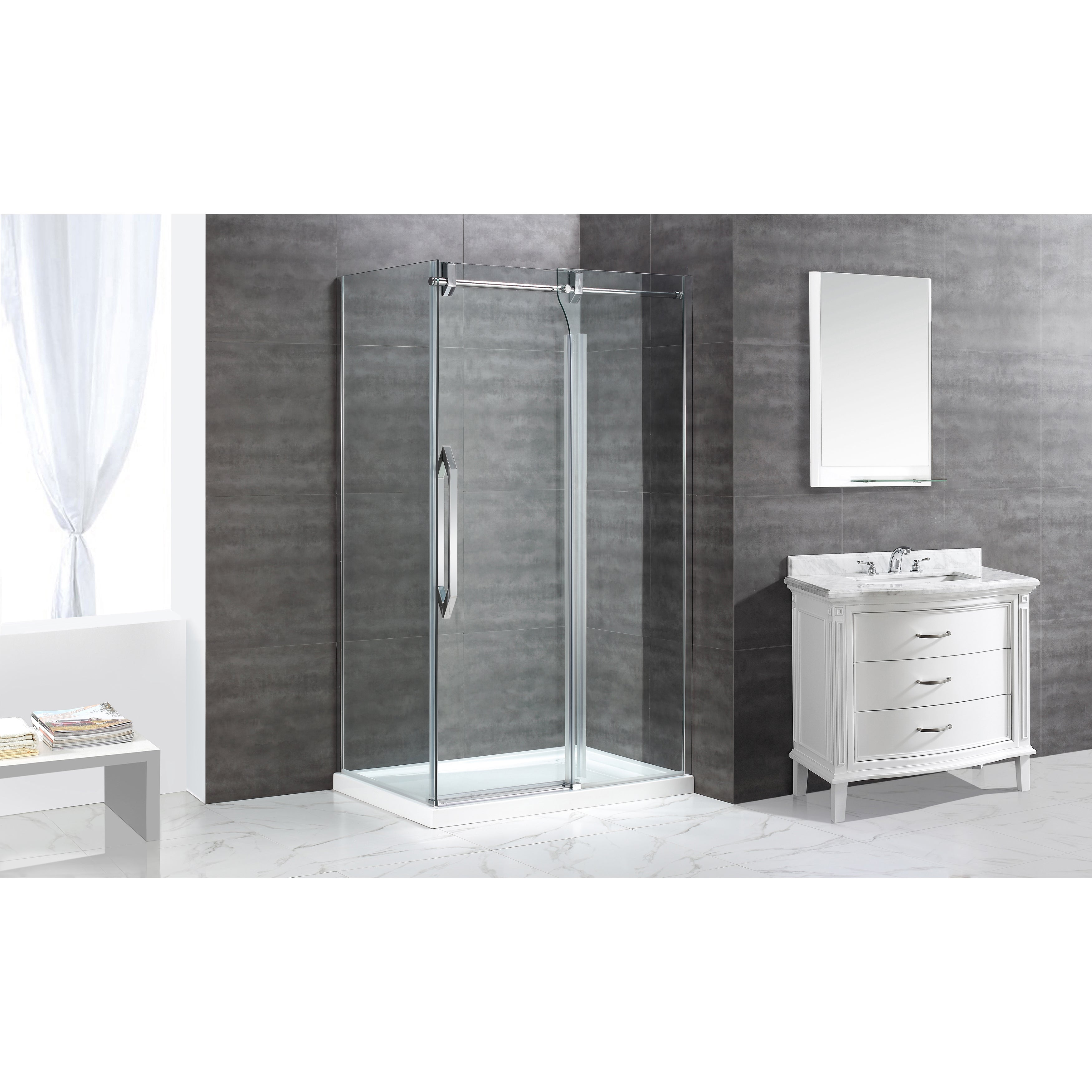 Shop OVE Decors Antigua 48-inch Glass Shower Kit - Free Shipping ...