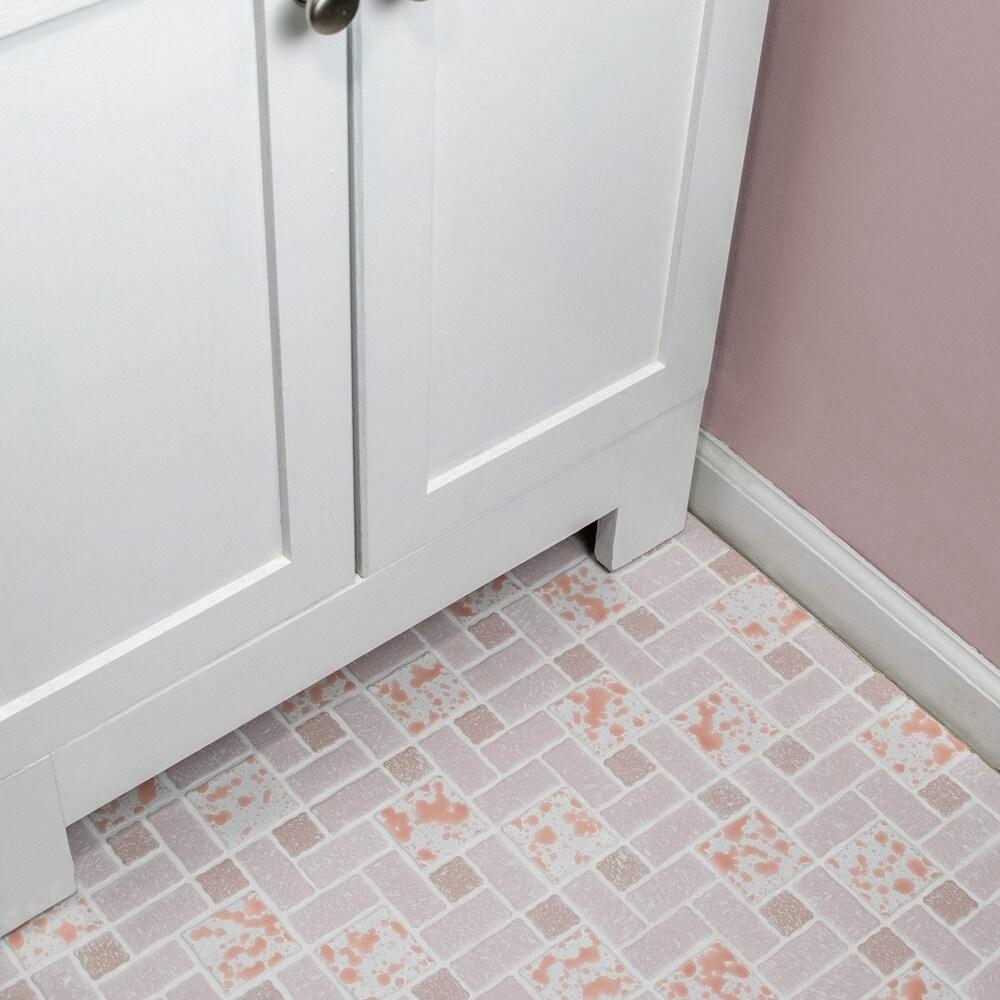 Shop SomerTile 11.75x11.75-inch Collegiate Pink Porcelain Mosaic ...