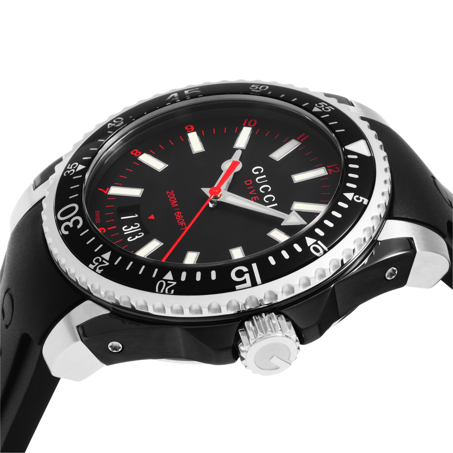 8cbe4395701 Shop Gucci Men s YA136303  Dive  Black Rubber Watch - Free Shipping Today -  Overstock - 10335755