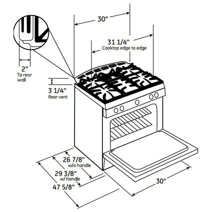 Shop Ge Profile Series 30 Inch Dual Fuel Slide In Range With Warming