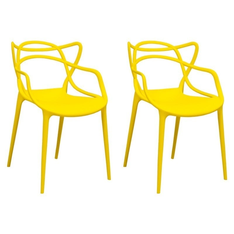 Mod Made Contemporary Stackable Plastic Loop Dining Arm Chair (Set Of 2)    Free Shipping Today   Overstock.com   17446430