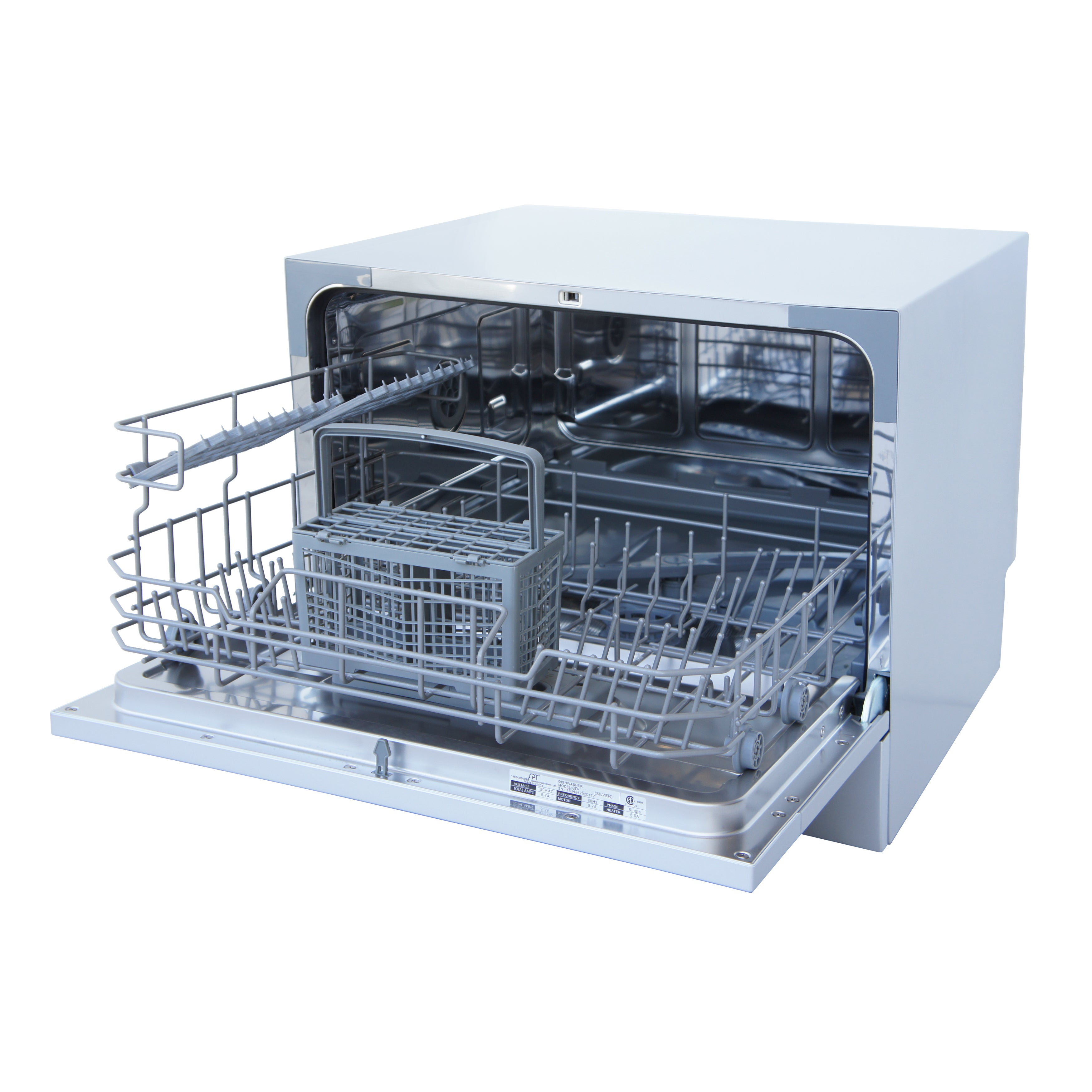 shop spt 6 place setting silver countertop dishwasher with delay rh overstock com