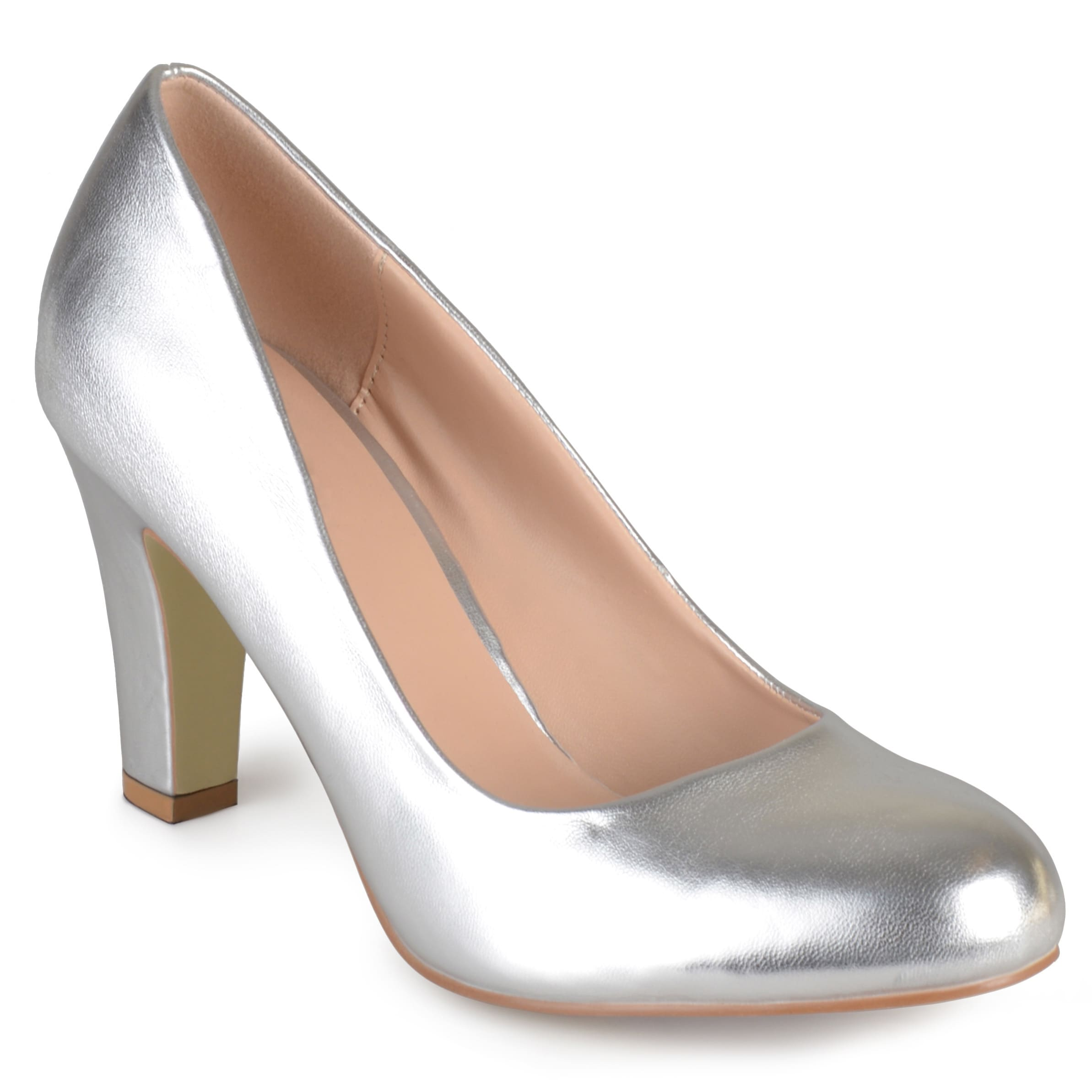 e4e625fd476 Shop Journee Collection Women s  Ice  Matte Finish Chunky Heel Pumps - Free  Shipping On Orders Over  45 - Overstock - 10337946