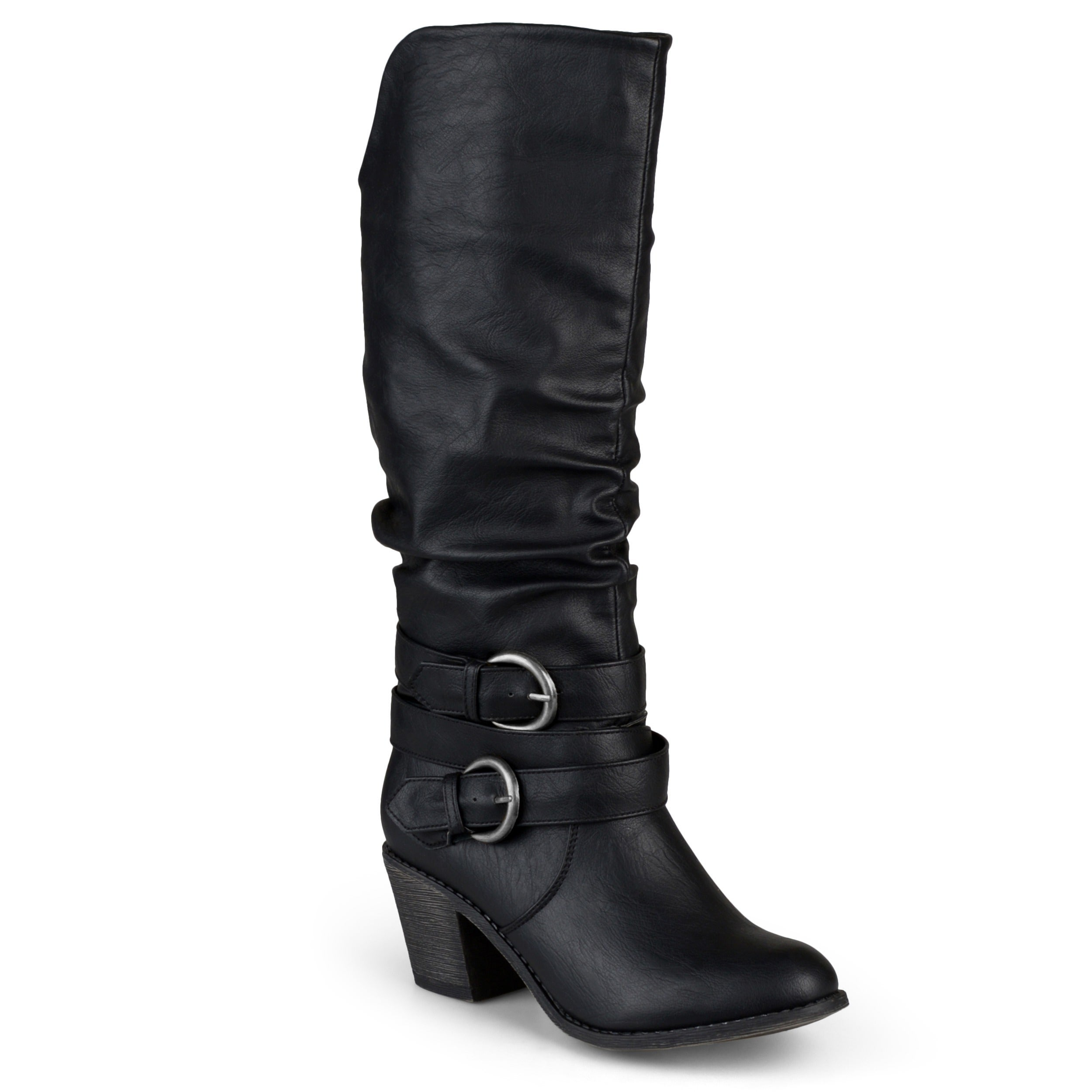 a3781784dc66 Shop Journee Collection Women s  Late  Buckle Slouch High Heel Boots - On  Sale - Free Shipping Today - Overstock - 10337951