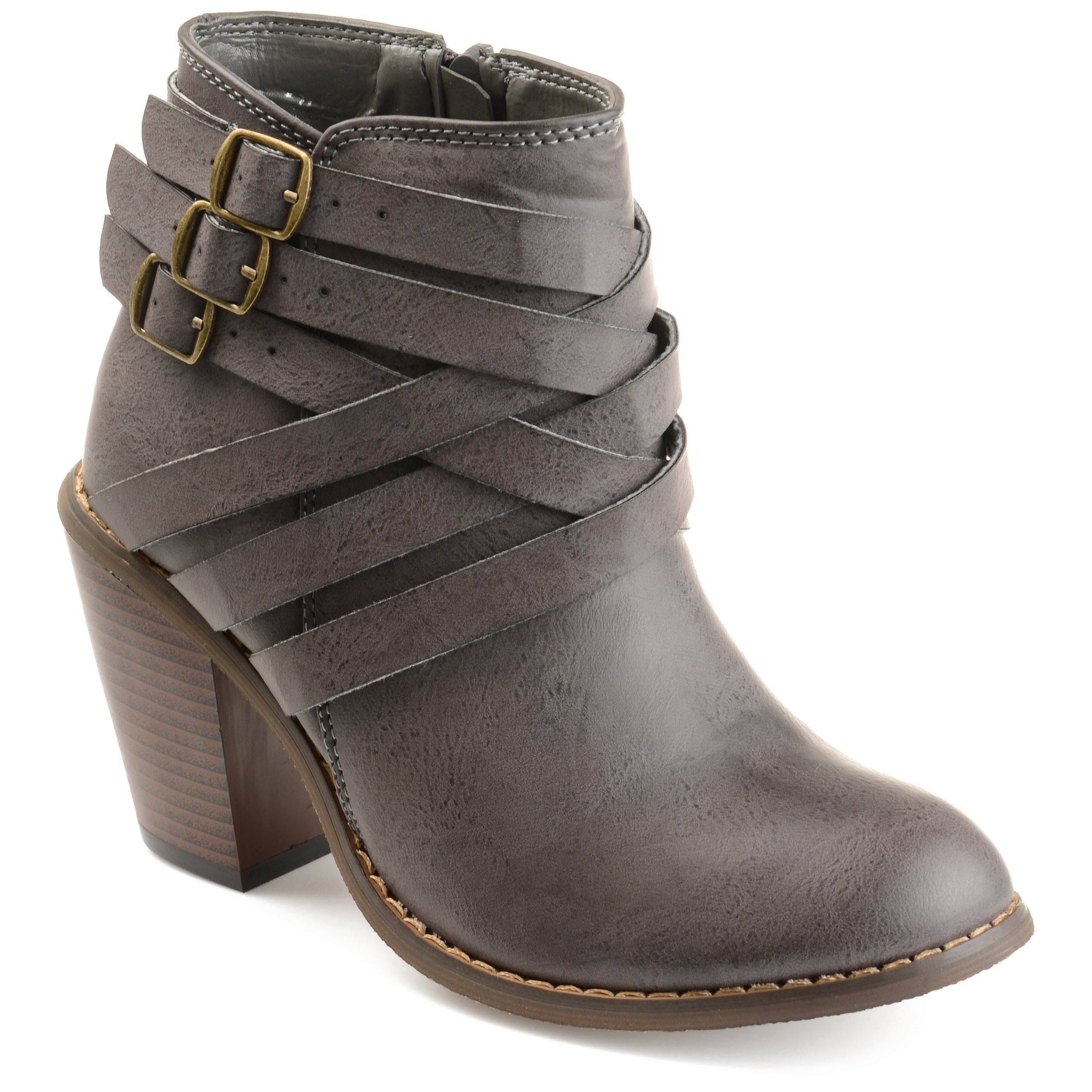 Journee Collection Strap ... Women's Ankle Boots d6kBK