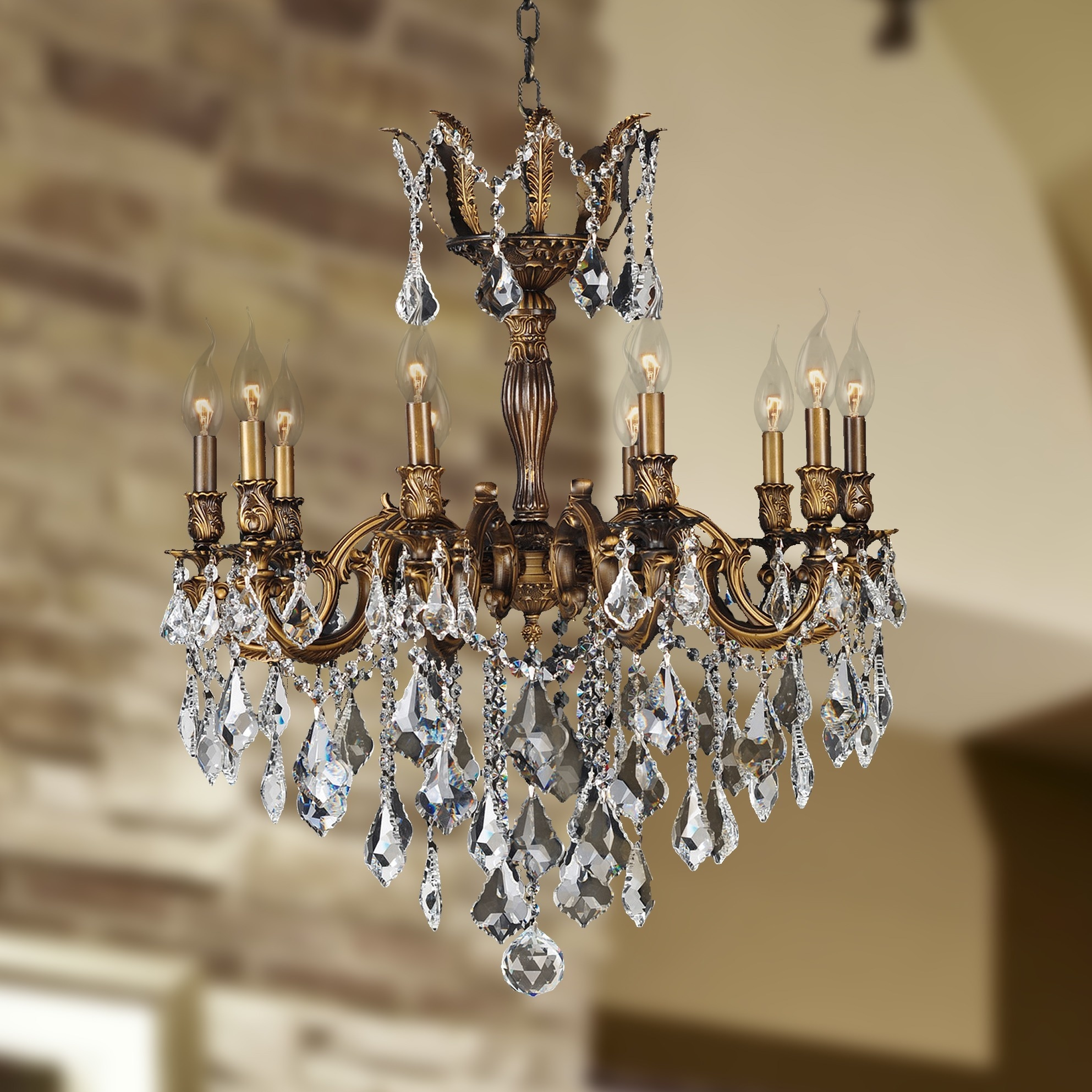 Versailles collection 10 light antique bronze finish and clear versailles collection 10 light antique bronze finish and clear crystal chandelier free shipping today overstock 17447958 arubaitofo Image collections