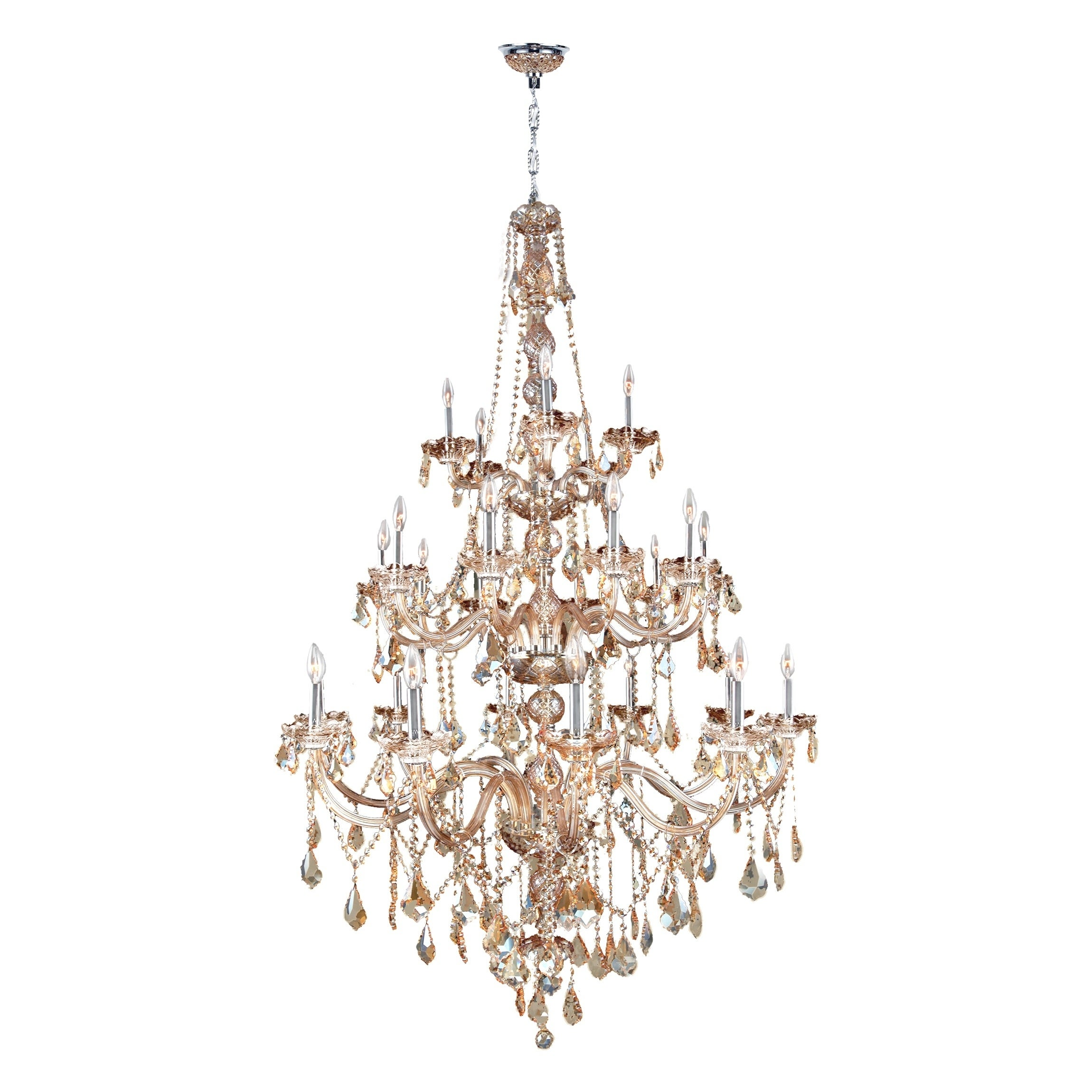 Provence collection 25 light chrome finish and amber crystal provence collection 25 light chrome finish and amber crystal chandelier three 3 tier free shipping today overstock 17447979 aloadofball Image collections