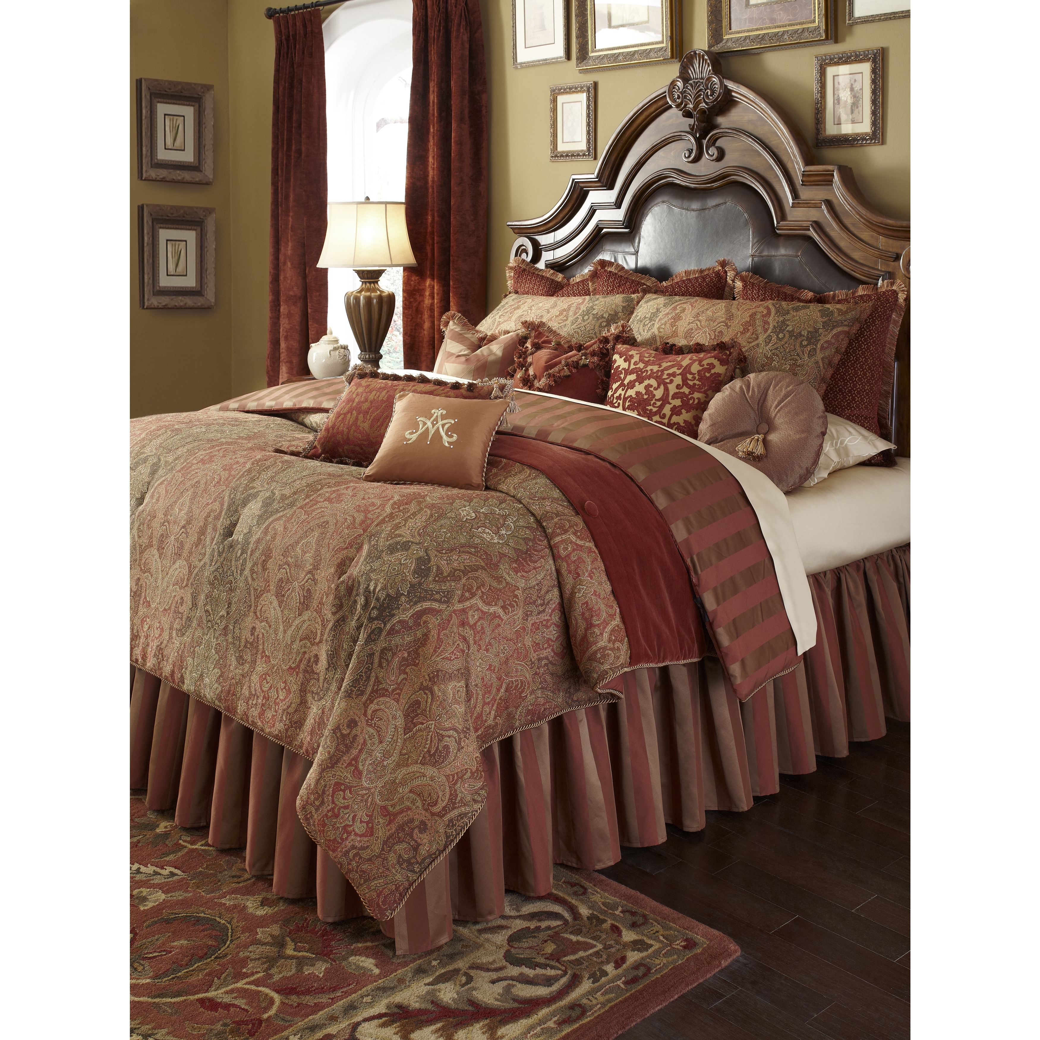 amini overstock set bedding shipping coverlet today free michael bed ashworth bath product duvet