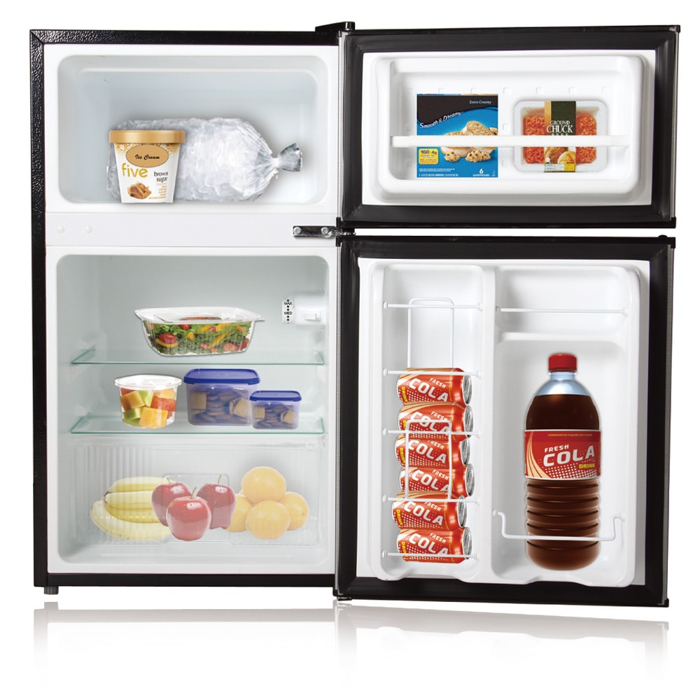 Ft. Double Door Compact Refrigerator/Freezer   Free Shipping Today    Overstock.com   10340133