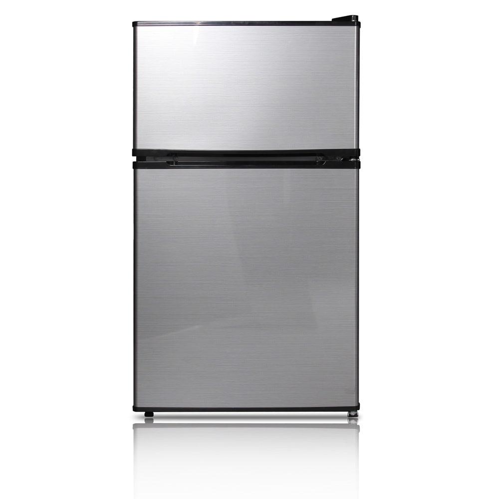 Good Ft. Double Door Compact Refrigerator/Freezer   Free Shipping Today    Overstock   17449543