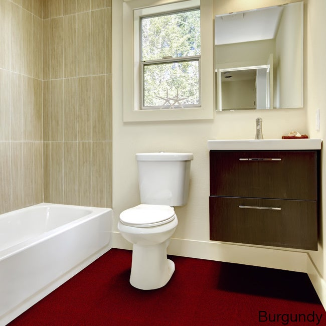 Shop Olefin Wall To Wall Plush Bathroom Carpet (5x6)   Free Shipping Today    Overstock.com   10340495