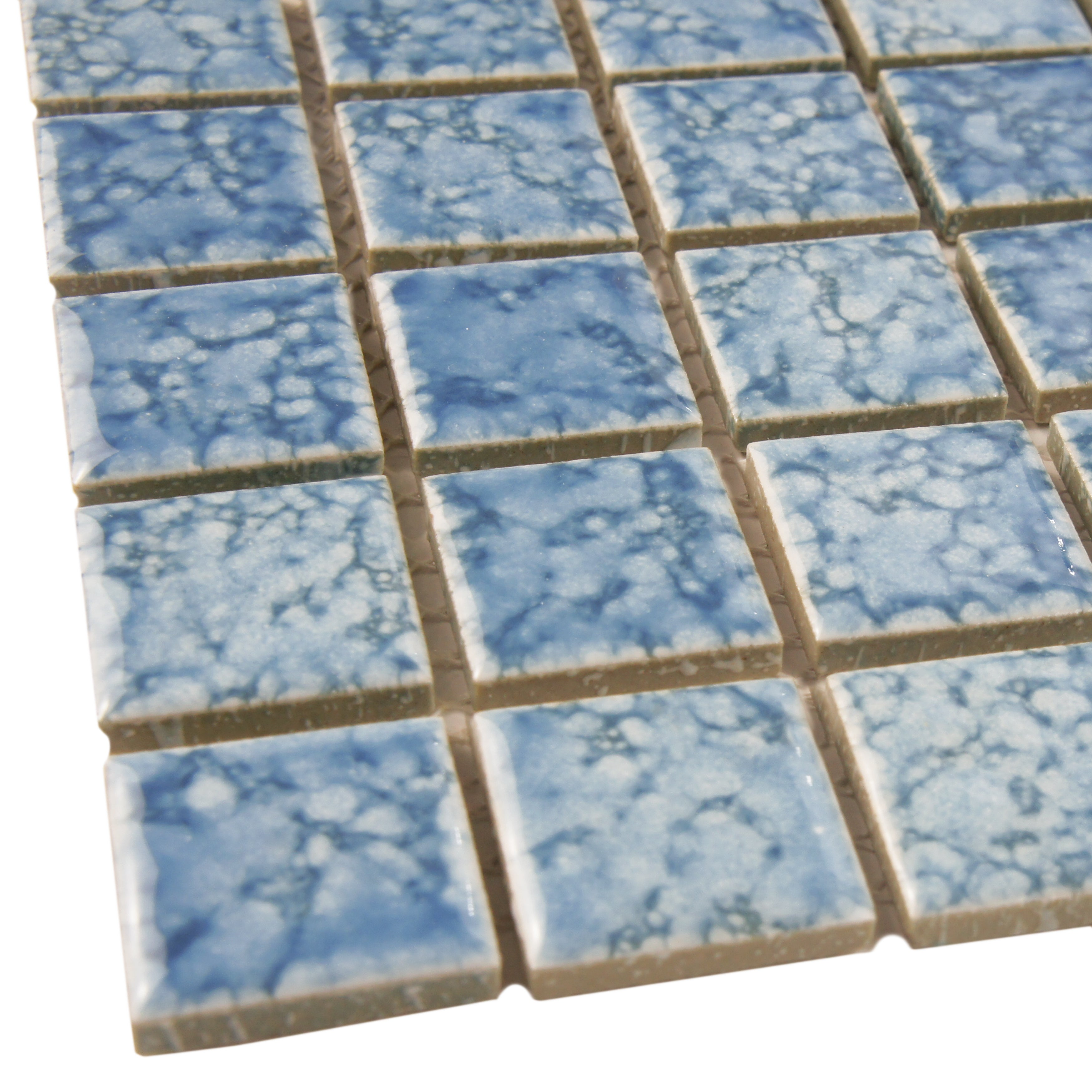 SomerTile 12x12-inch Reservoir Blue Porcelain Mosaic Floor and Wall ...