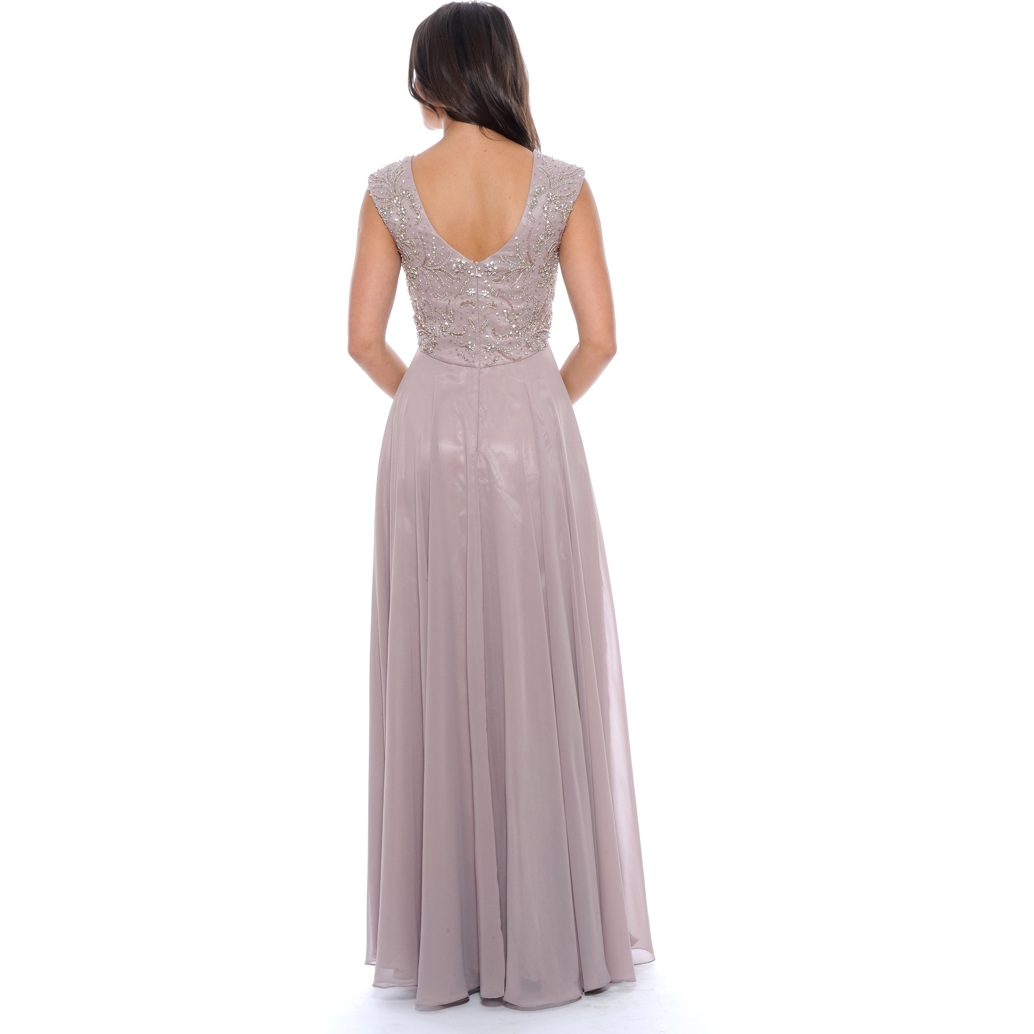 e7a0718031ed Shop Decode 1.8 Women's Mauve Beaded Empire Evening Gown - Free Shipping  Today - Overstock - 10340936