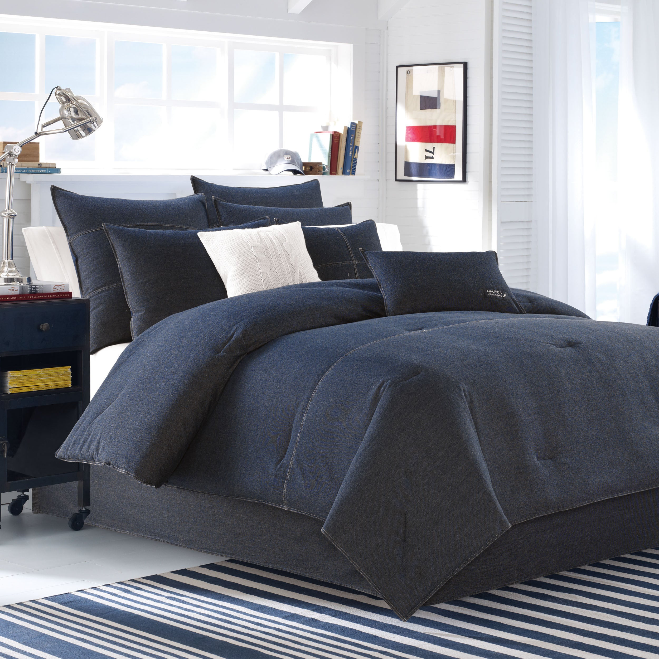 Shop nautica seaward denim 3 piece duvet cover set on sale free shipping today overstock com 10341419