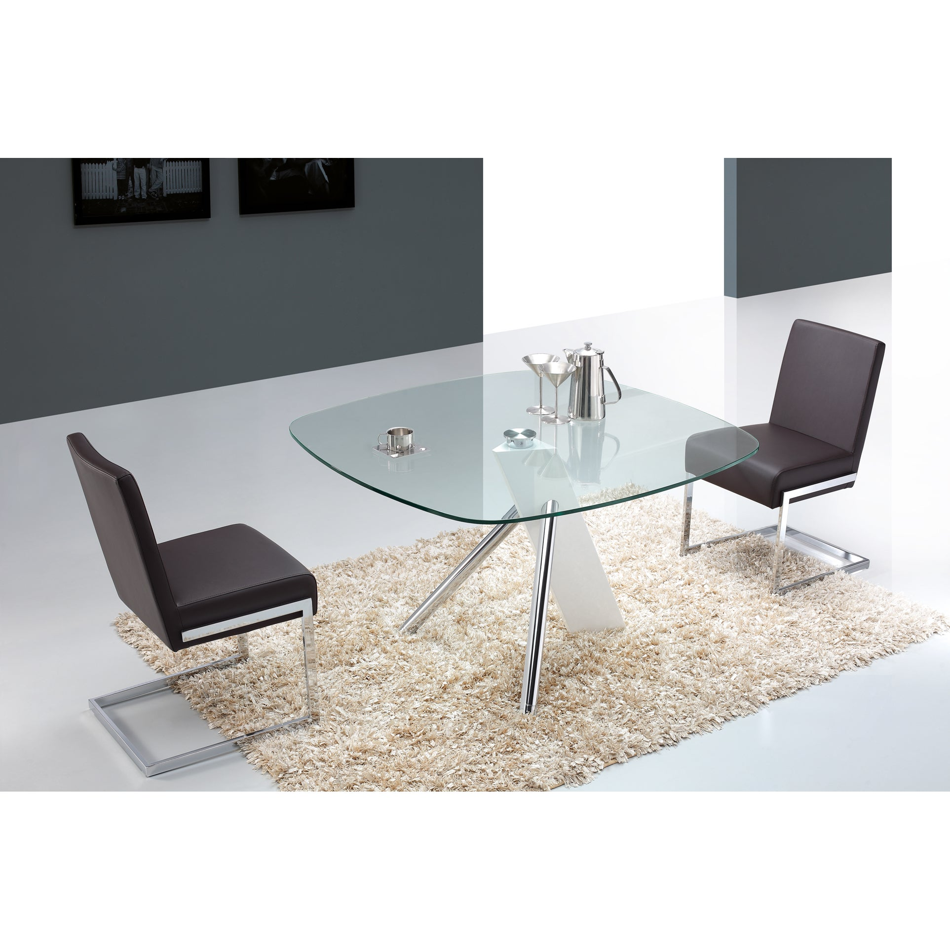 Casabianca Home Urban Collection Metal Gl Round Dining Table Free Shipping Today 10341742