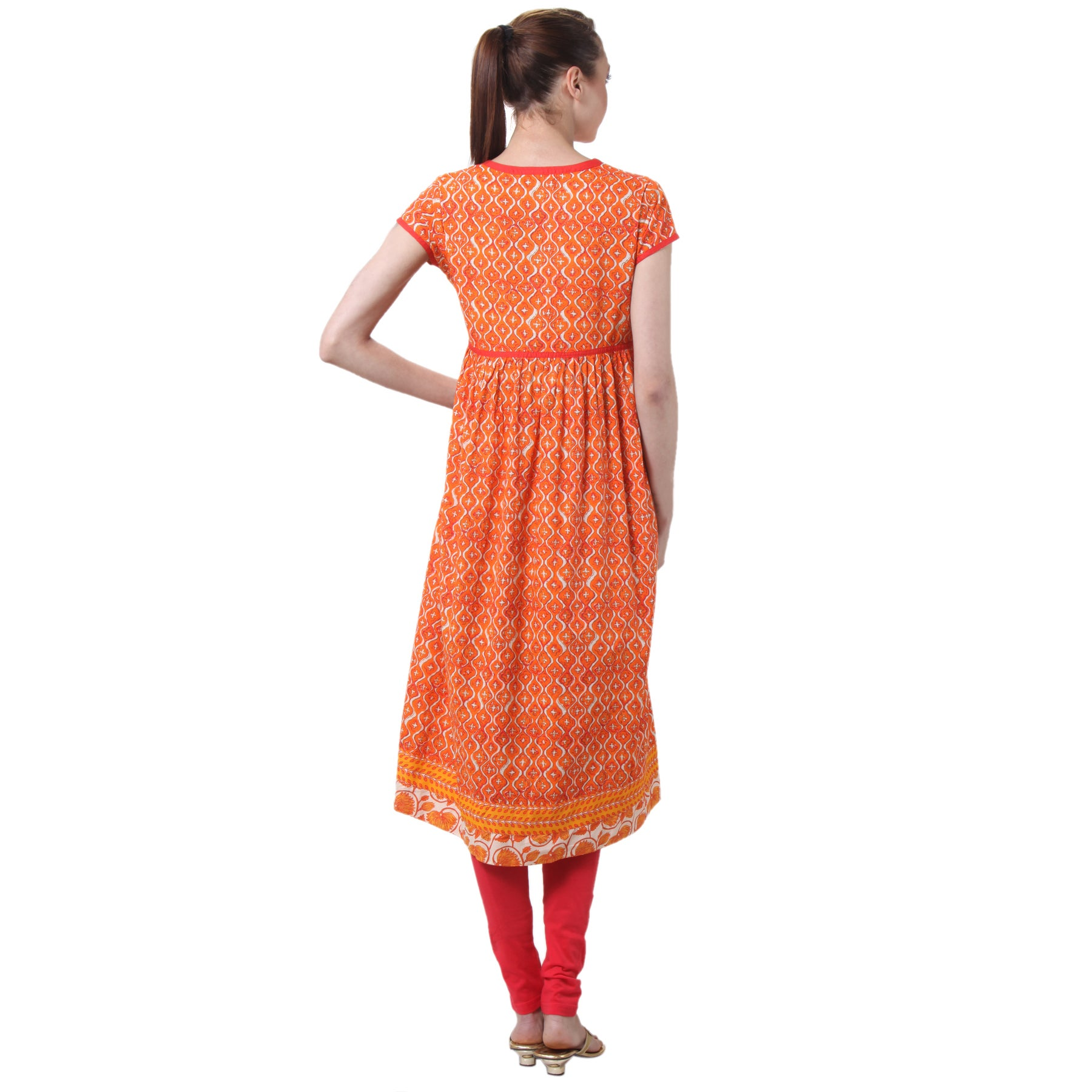 8896105cd31 Shop Handmade In-Sattva Women s Indian Contrast Prints Kurta Tunic (India)  - Free Shipping On Orders Over  45 - Overstock - 10341992