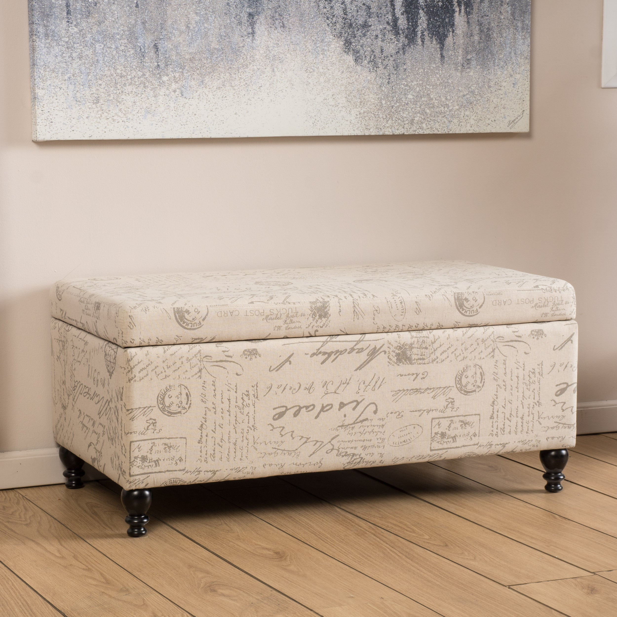 colusa bench furniture storage p neutral he top lift homelegance fabric grey