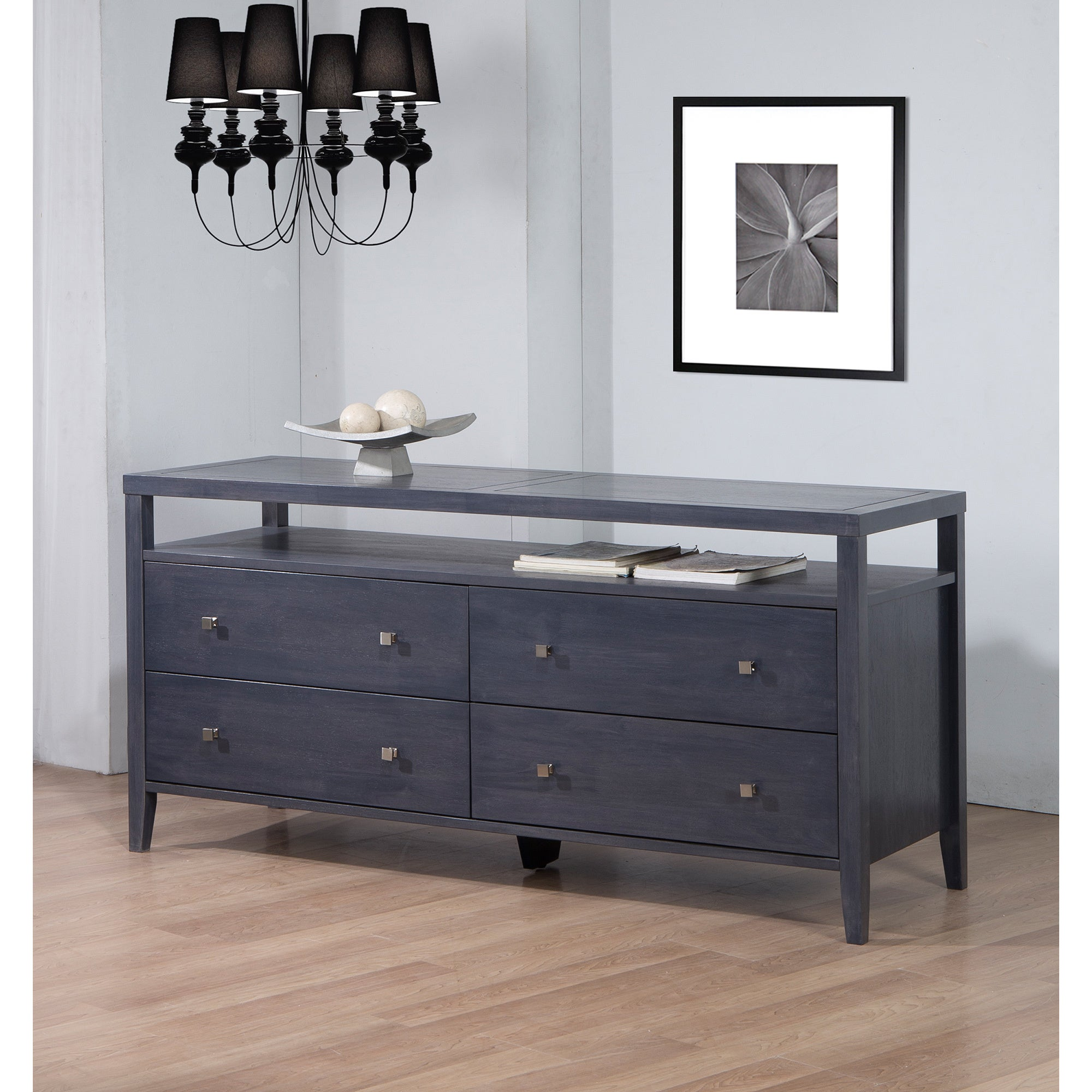 Shop Strick Bolton Aristo Dark Grey Black 4 Drawer Dresser Free