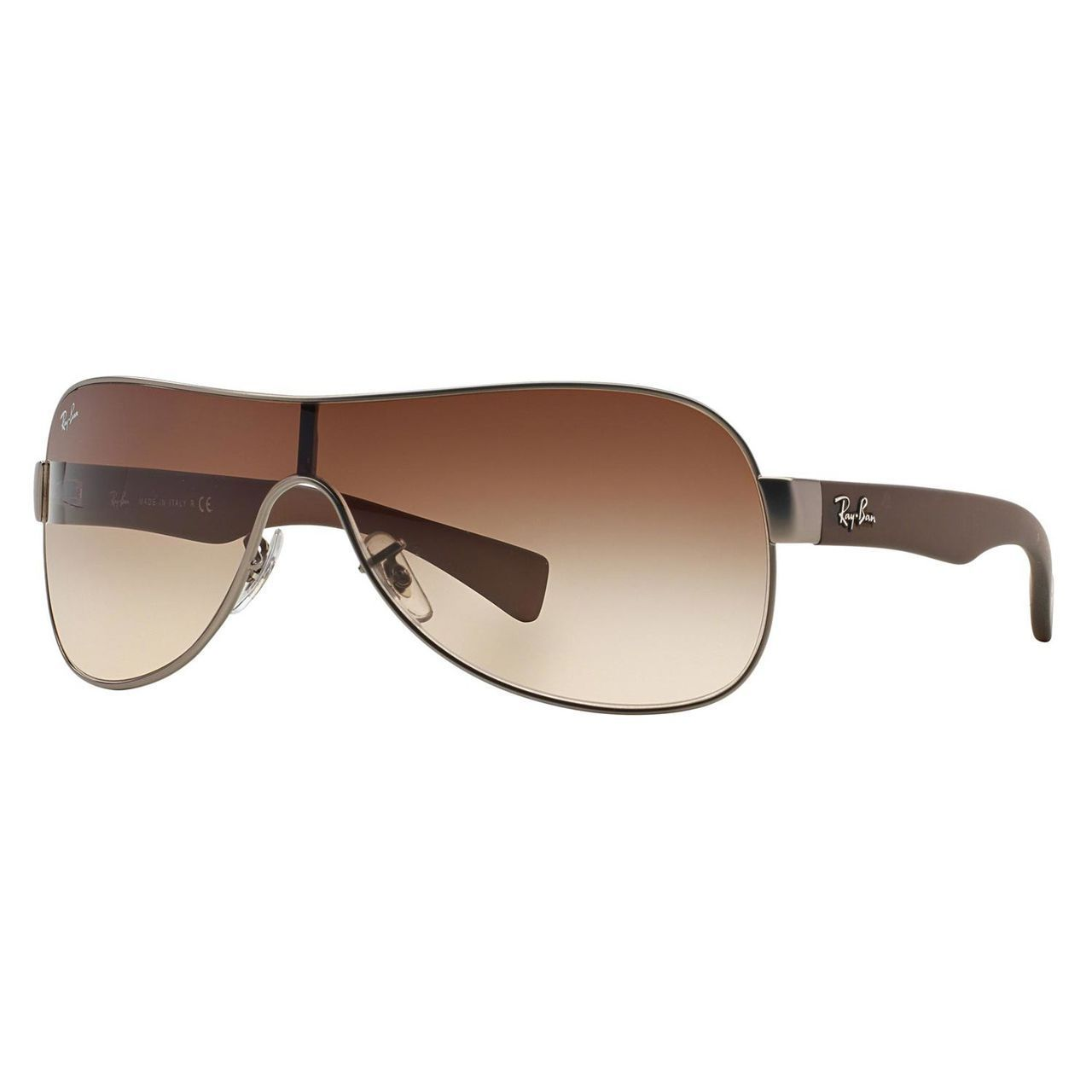 ba60deca69e Shop Ray-Ban RB3471 Shield Sunglasses - 029 13 Matte Gunmetal (Brown  Gradient Lens) - 132mm - Free Shipping Today - Overstock - 10343364