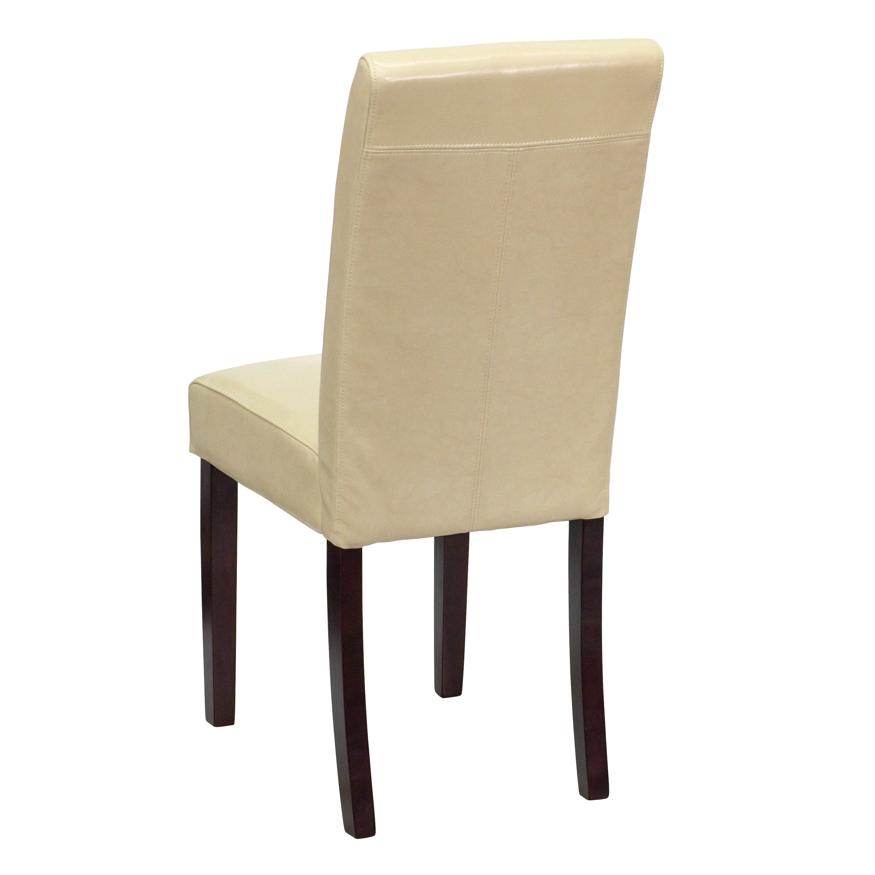 Royale Ivory Leather Upholstered Parson Chairs Free Shipping Today 10343501