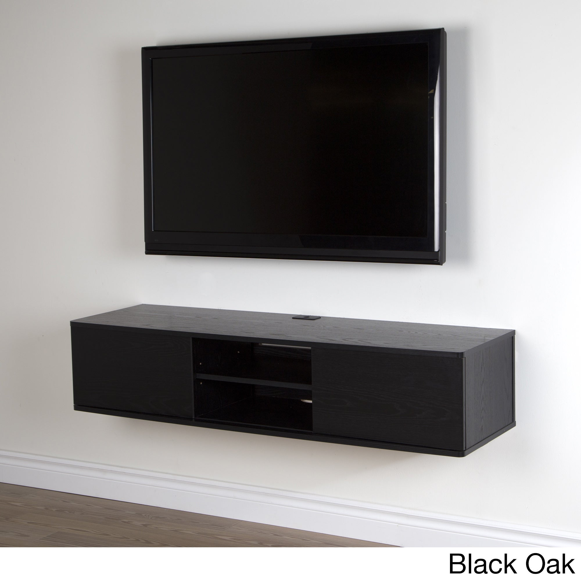 South Shore Agora 56-inch Wall Mounted Media Console - Free Shipping Today  - Overstock.com - 17453192