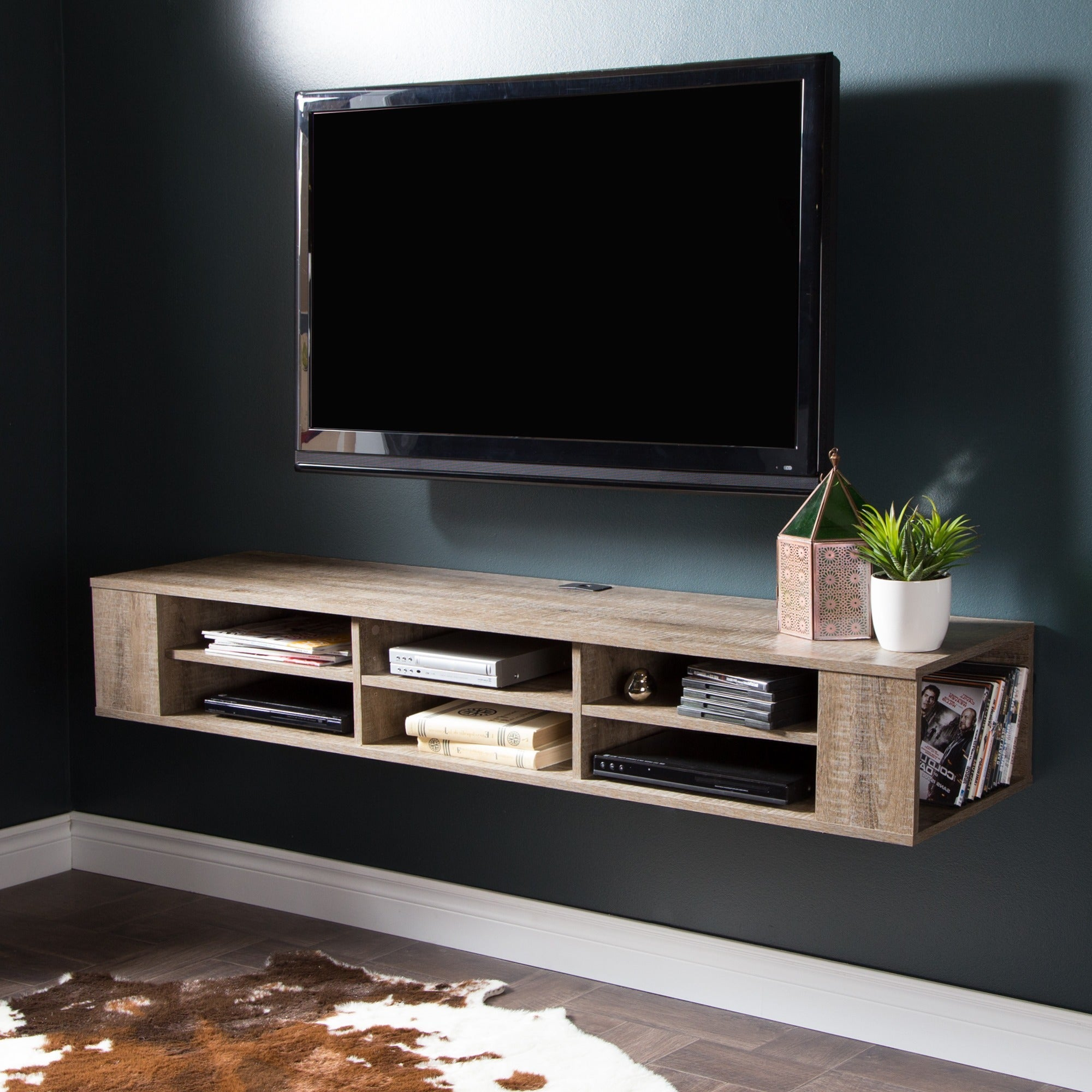 Captivating South Shore City Life 66 Inch Wall Mounted Media Console   Free Shipping  Today   Overstock.com   17453193 Awesome Ideas
