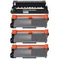 4-pack Replacing Brother 1 by TN-650 Toner Cartridge Plus 1 by DR-620 Drum Unit