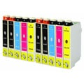 10-pack Replacing Epson 220 220XL T220120 T220XL120 T220XL220 T220XL320 T220XL420 Ink Cartridge