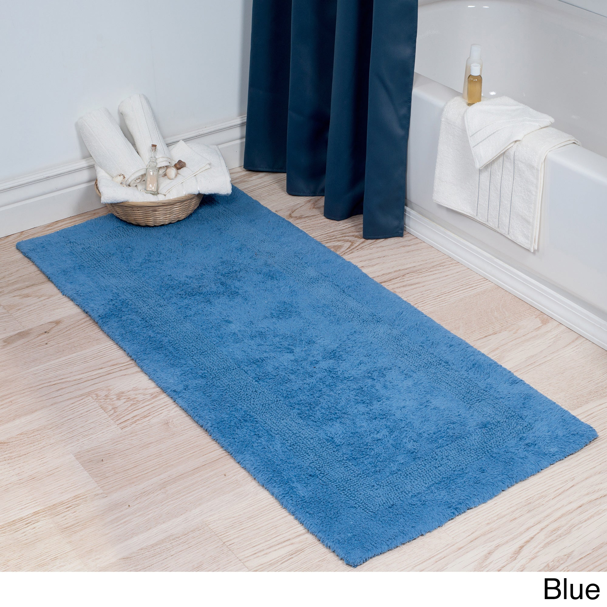 Shop Windsor Home 100-percent Cotton Reversible Bath Mat Runner - 24 ...